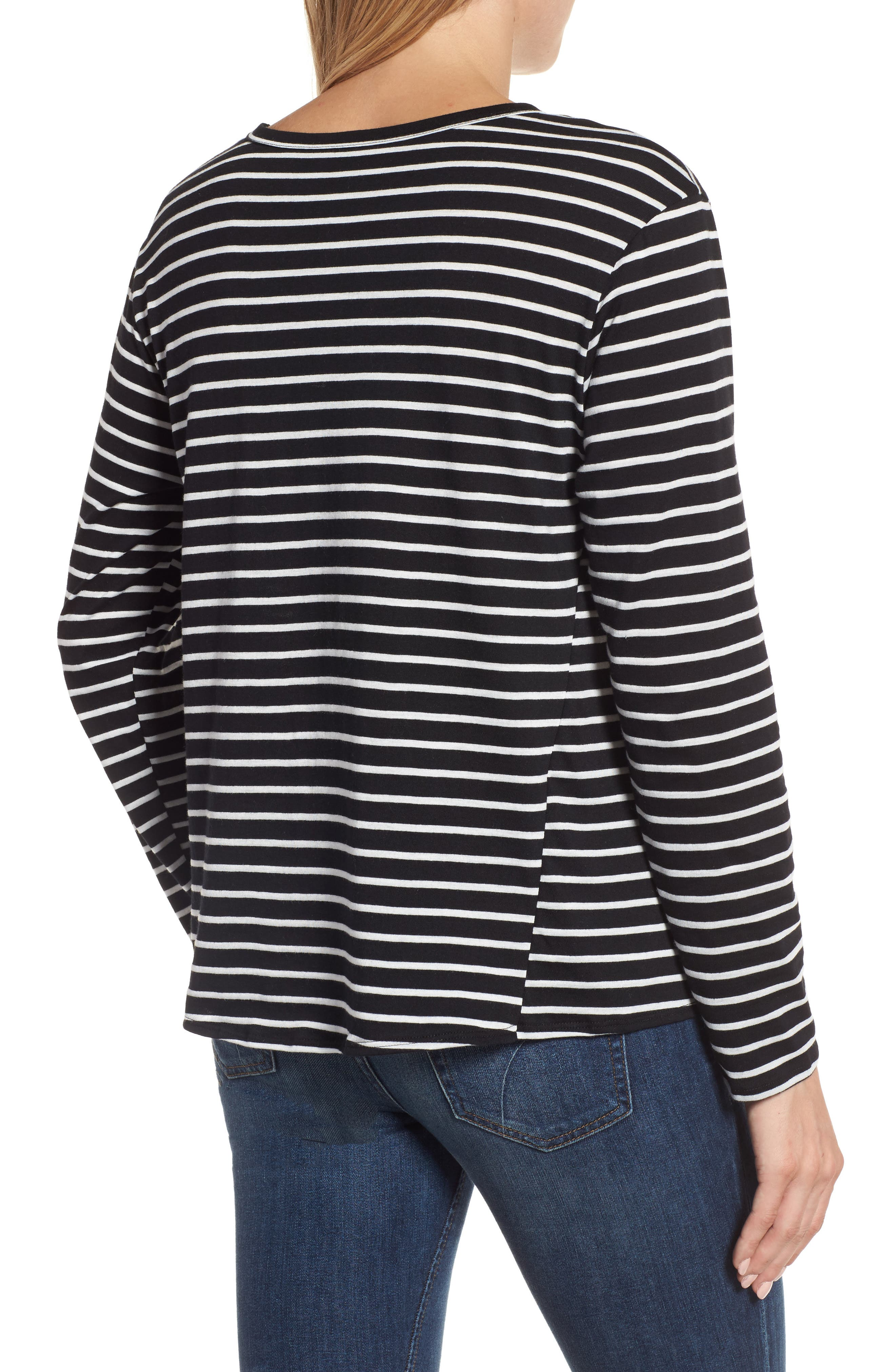 Long Sleeve Side Tie Tee,                             Alternate thumbnail 8, color,