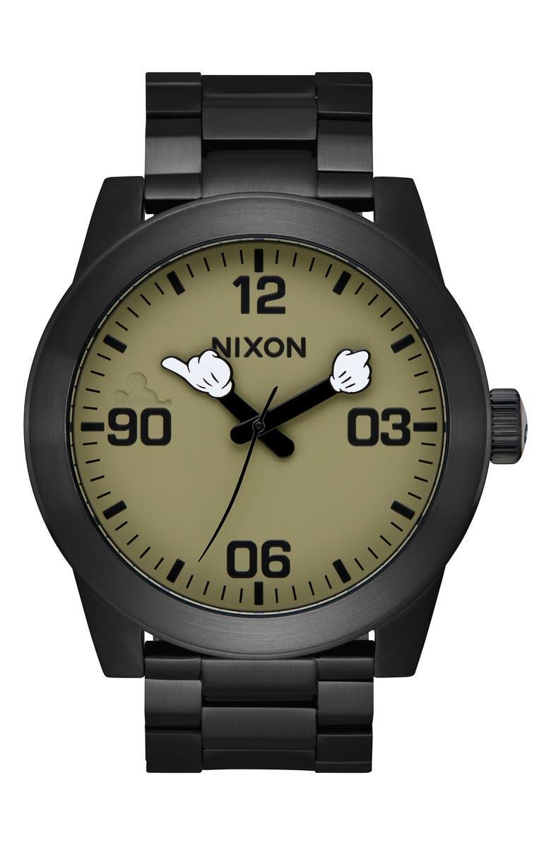 Nixon Bracelets X DISNEY CORPORAL MICKEY ARMS BRACELET WATCH, 48MM