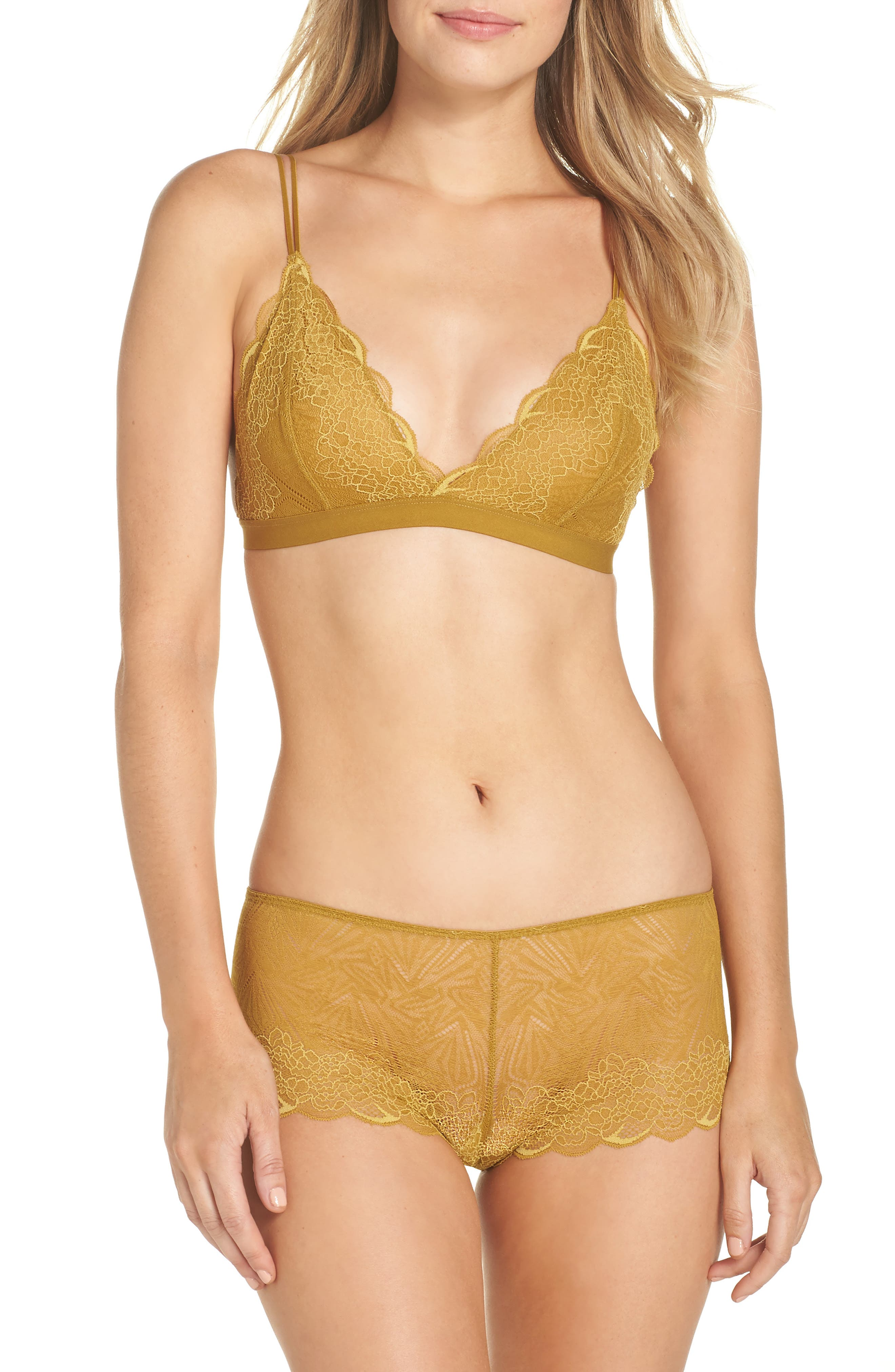 Lace Boyshorts,                             Alternate thumbnail 7, color,                             BRONZED AMBAR