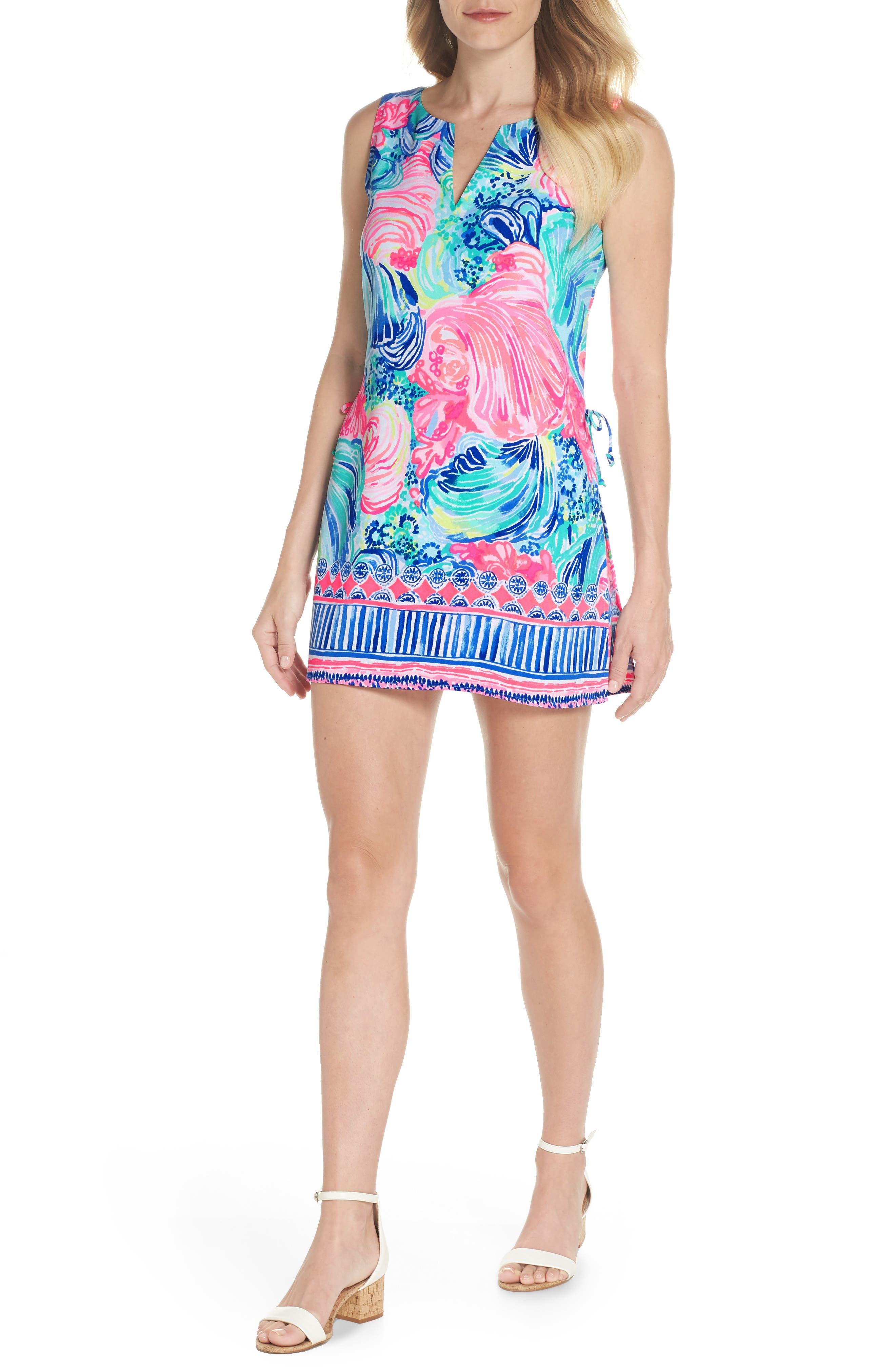 Donna Romper Dress,                             Main thumbnail 1, color,                             MULTI BEACH PLEASE