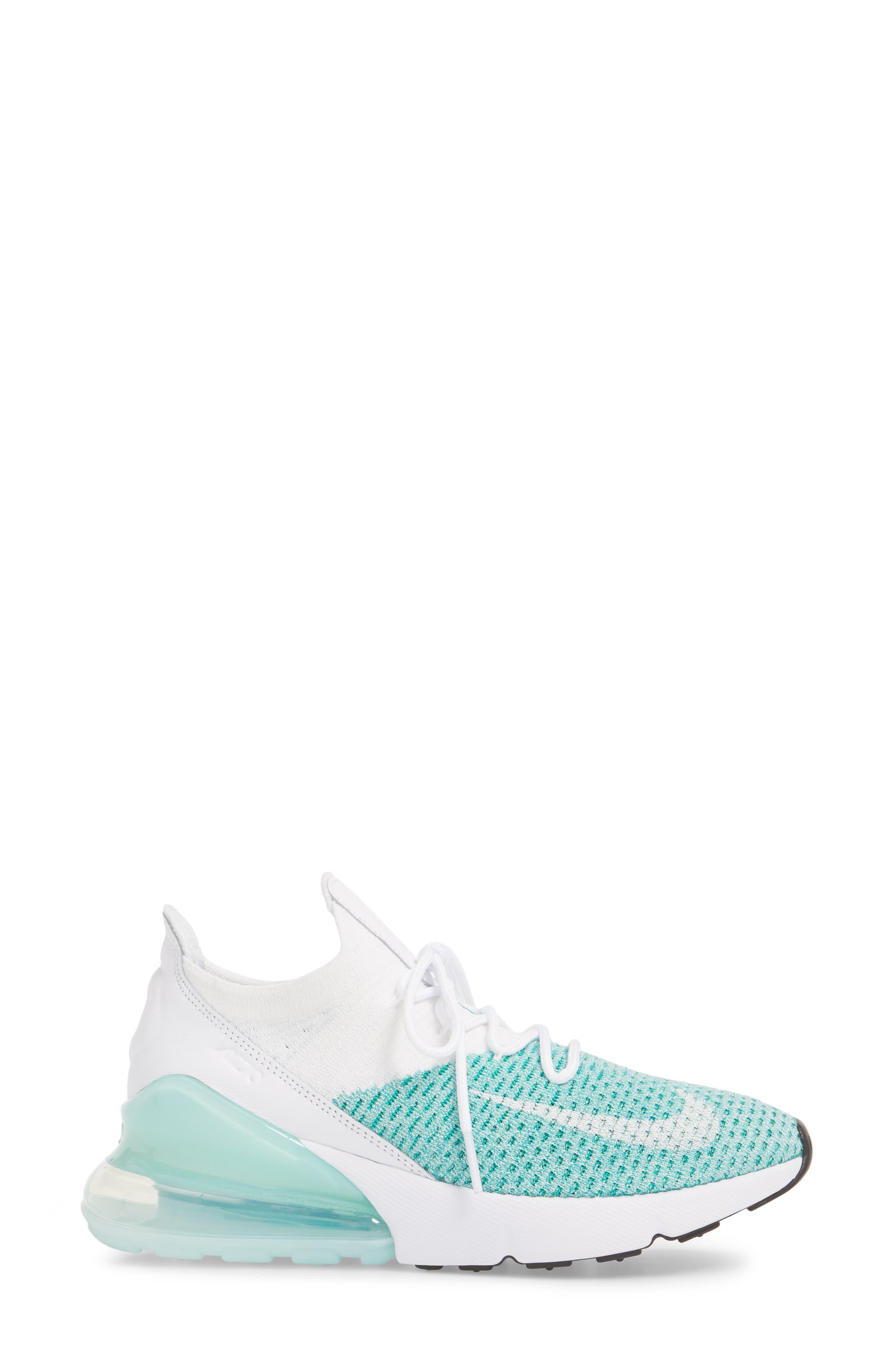Air Max 270 Flyknit Sneaker,                             Alternate thumbnail 18, color,