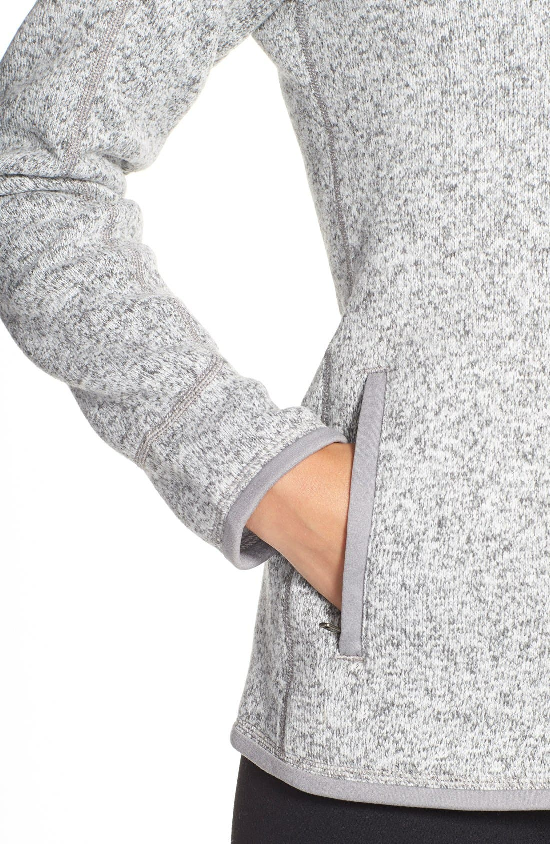 'BetterSweater' Jacket,                             Alternate thumbnail 7, color,                             BIRCH WHITE