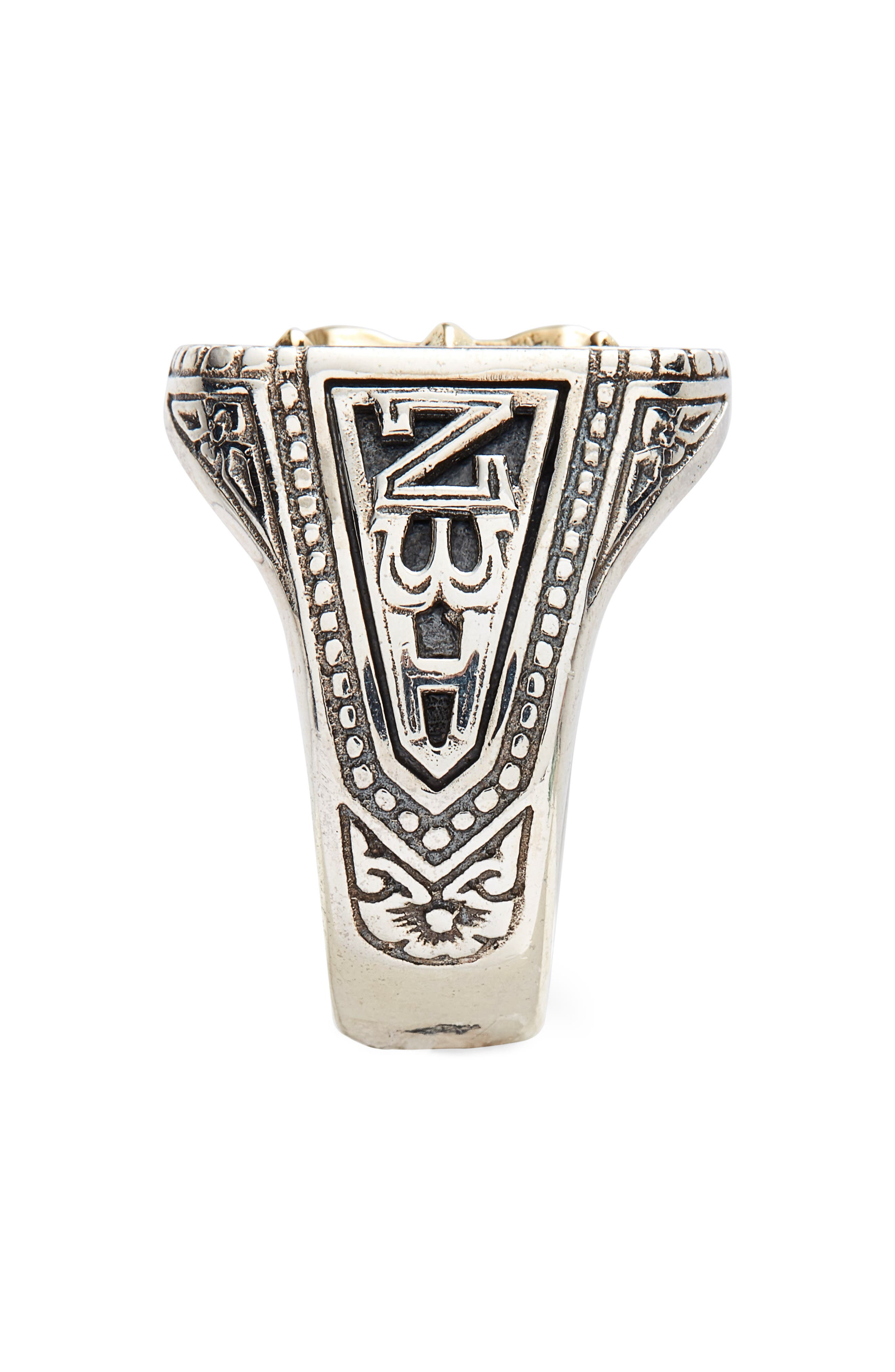 Stavros Square Signet Ring,                             Alternate thumbnail 2, color,                             SILVER/ GOLD