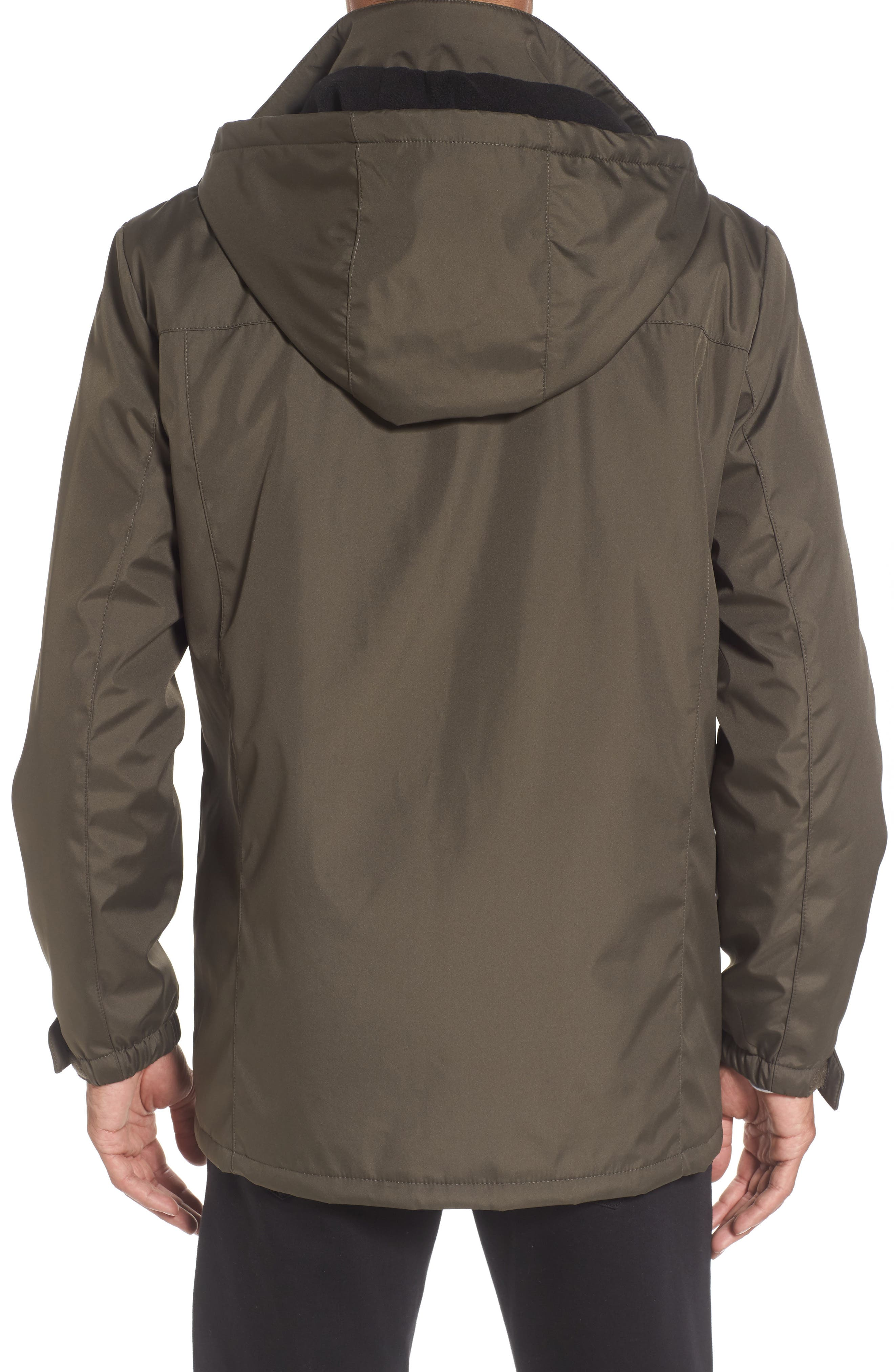 Hooded Jacket with Inset Fleece Bib,                             Alternate thumbnail 7, color,
