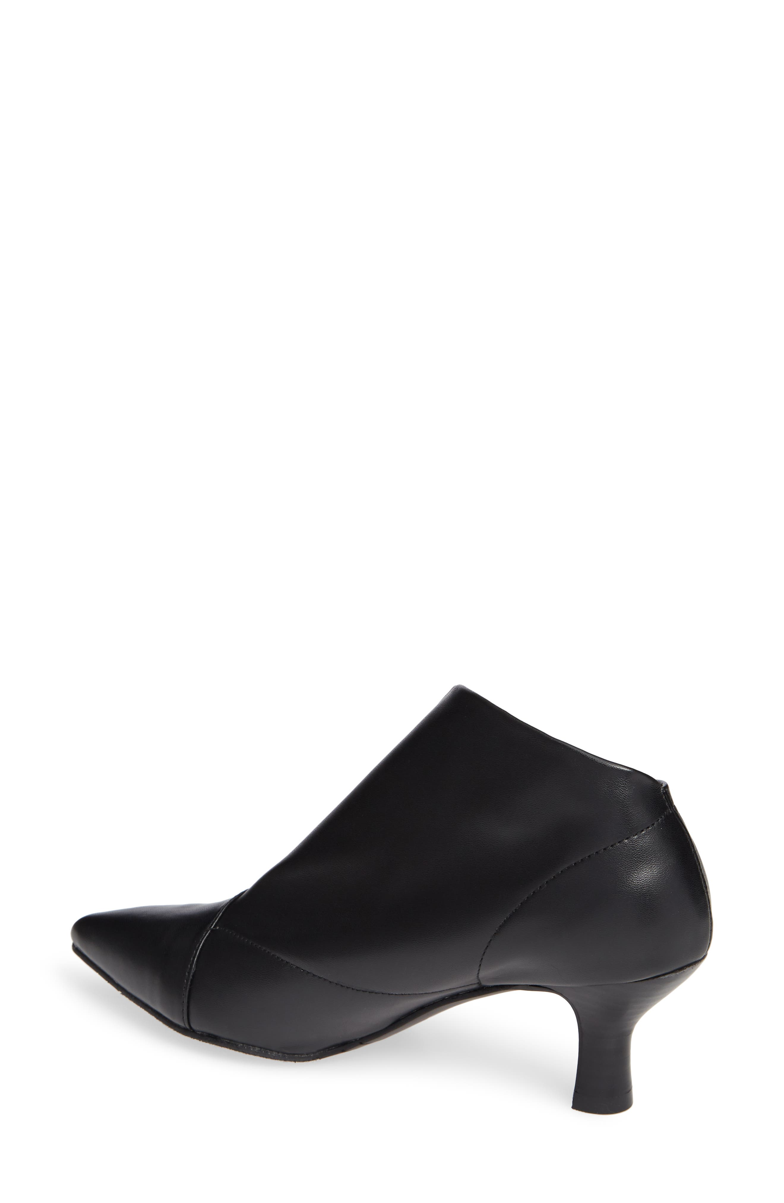 Hayes Pointy Toe Bootie,                             Alternate thumbnail 2, color,                             BLACK LEATHER