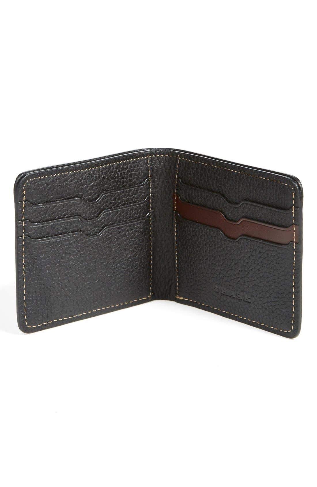 'Jackson' Bison Leather Wallet,                             Alternate thumbnail 5, color,