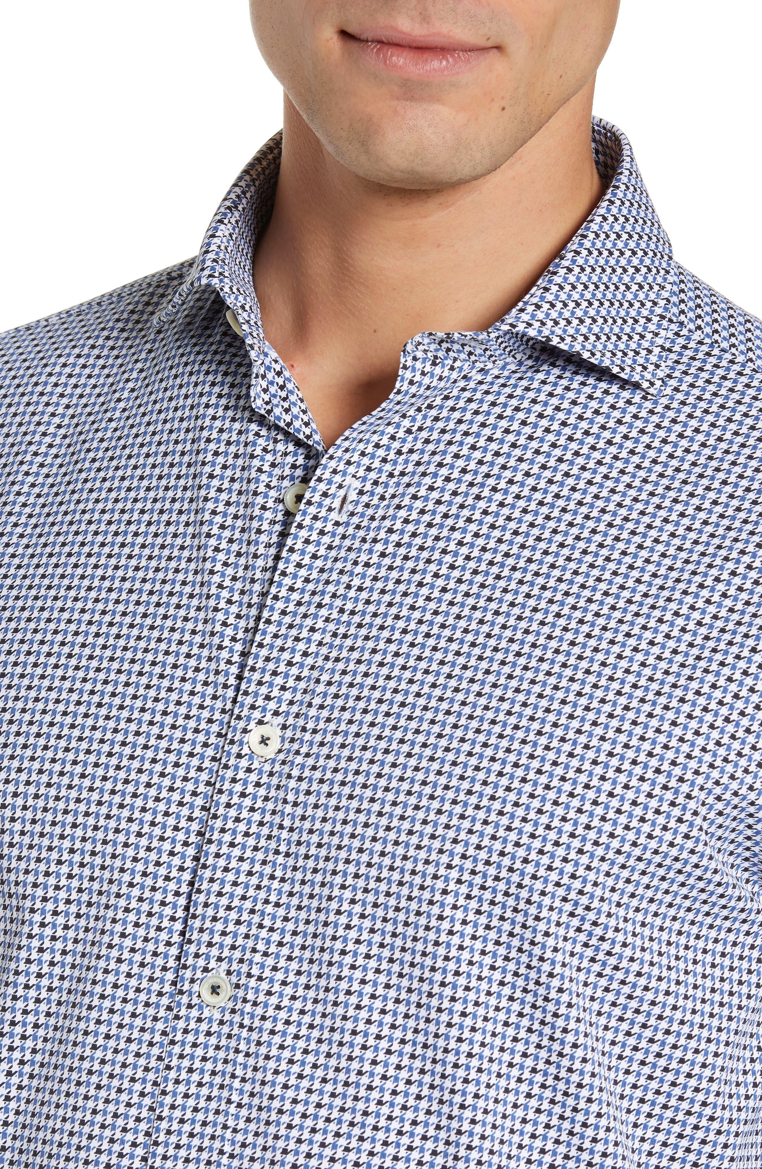 Classic Fit Print Performance Sport Shirt,                             Alternate thumbnail 2, color,                             NAVY