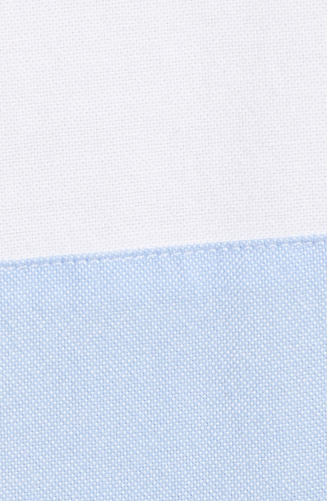Colorblock Relaxed Oxford Blouse,                             Alternate thumbnail 5, color,                             WHITE CAP