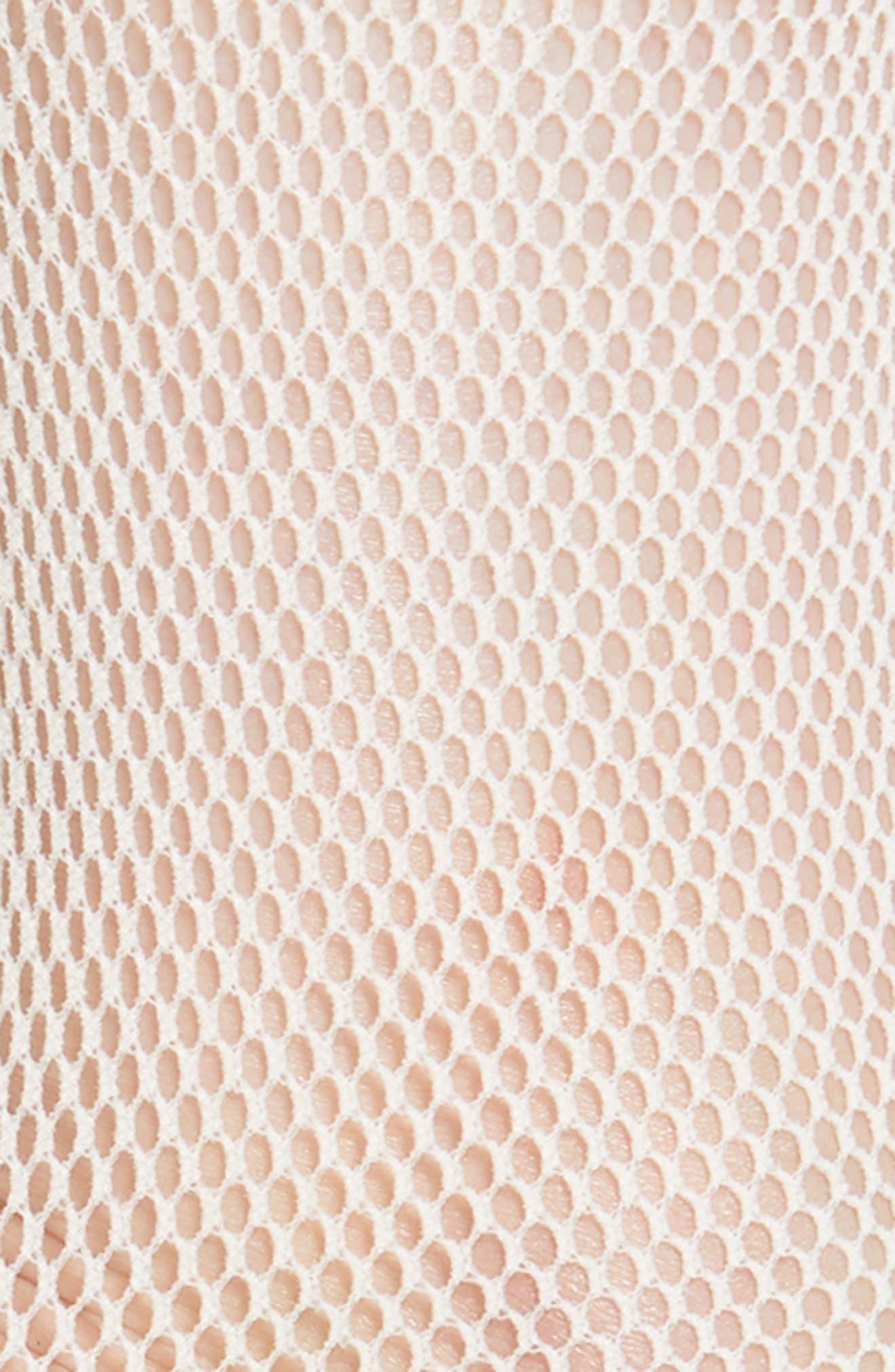 Fishnet Ankle Socks,                             Alternate thumbnail 3, color,                             WHITE