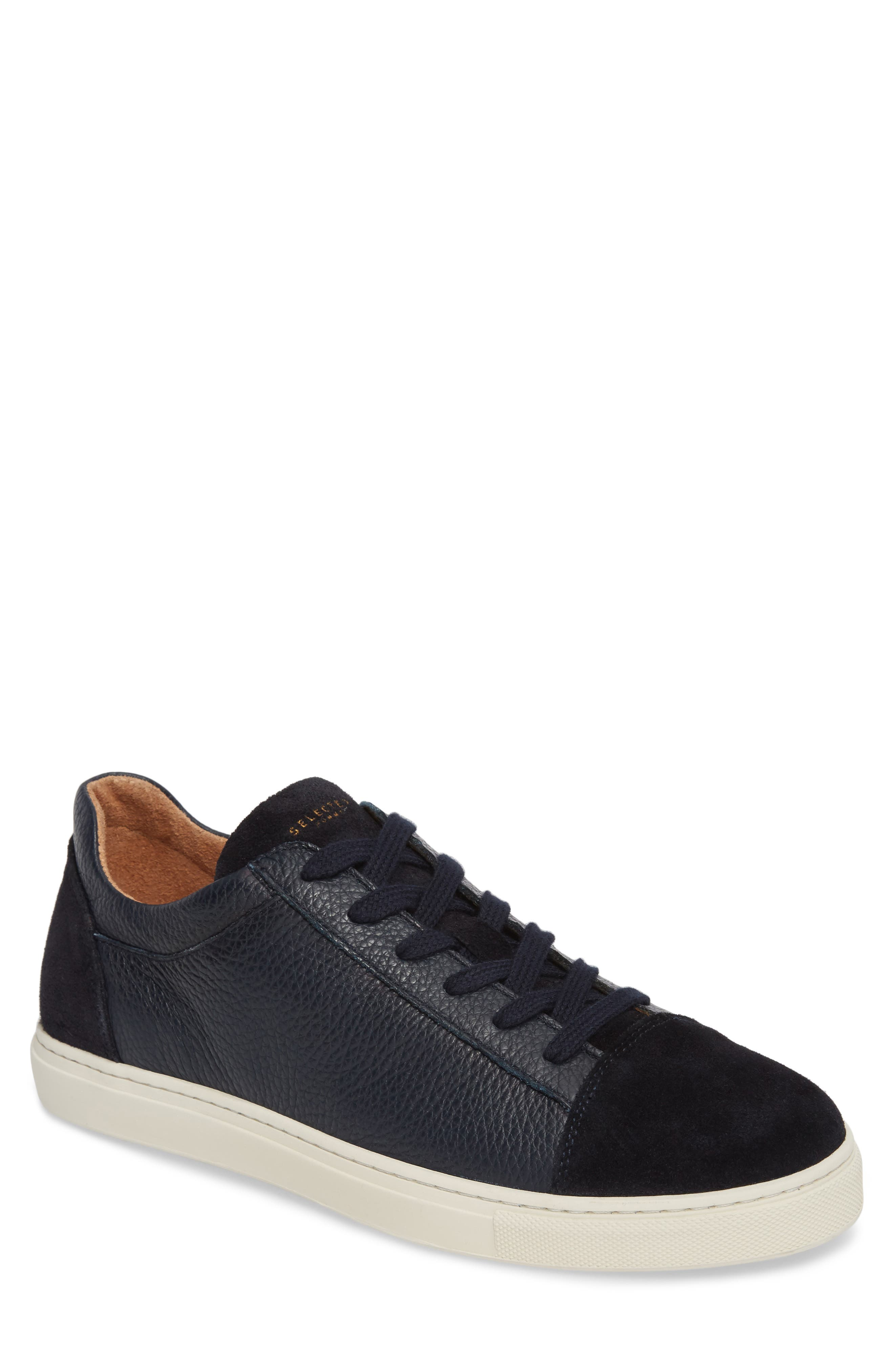 Selected Homme David Cap Toe Sneaker - Blue