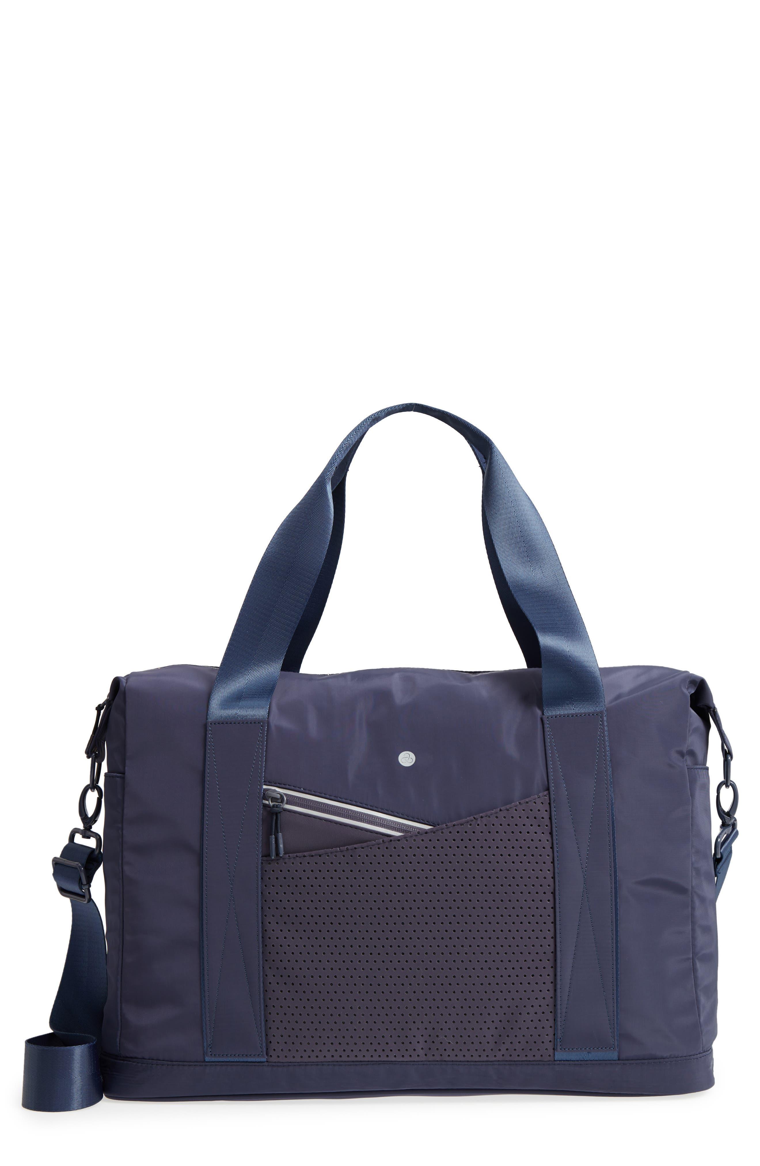 New Perforated Duffel Bag,                         Main,                         color, NAVY MARITIME