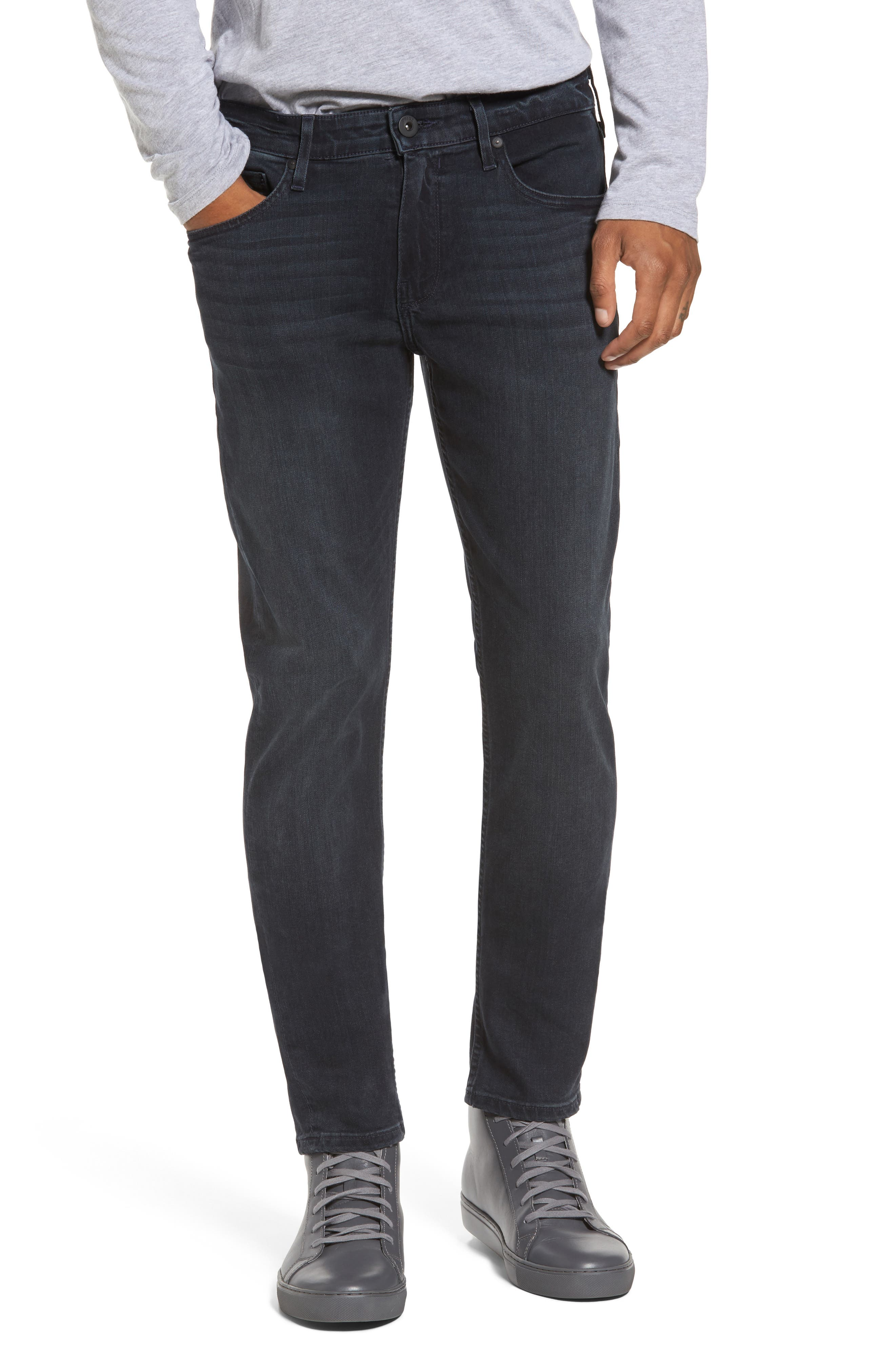 Transcend - Croft Skinny Fit Jeans,                             Main thumbnail 1, color,                             BECKETT