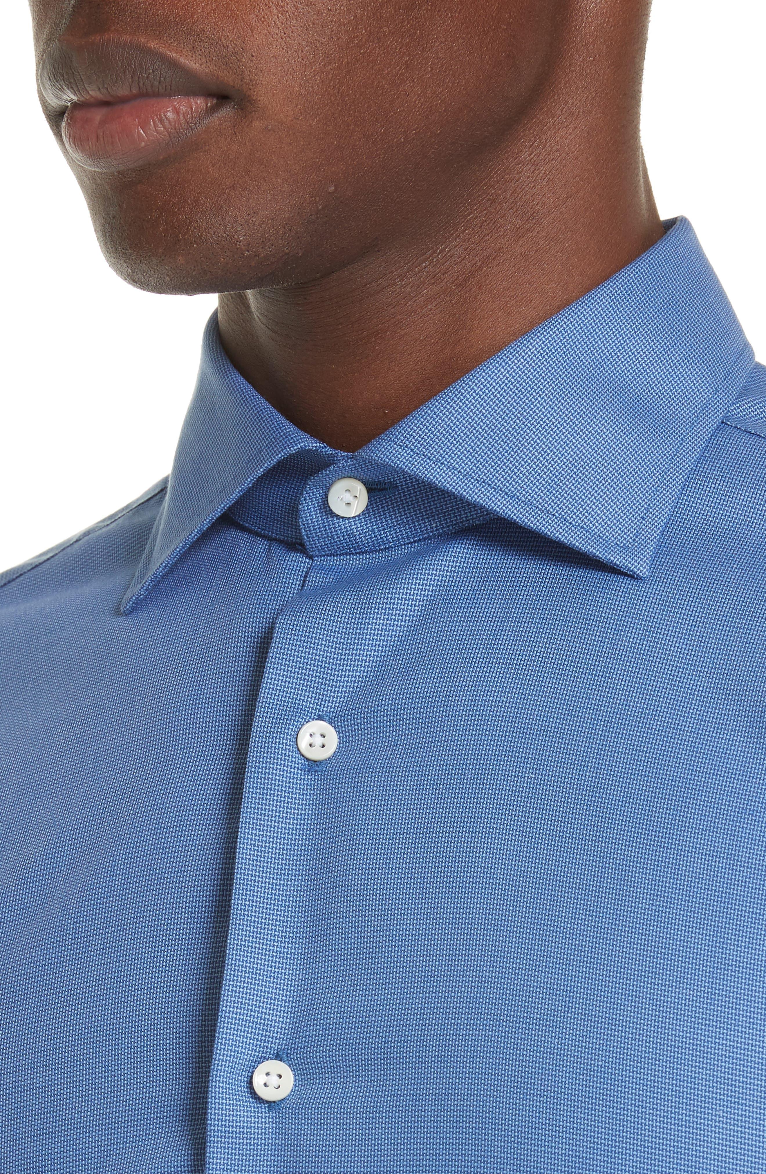 Trim Fit Dress Shirt,                             Alternate thumbnail 2, color,                             DARK BLUE