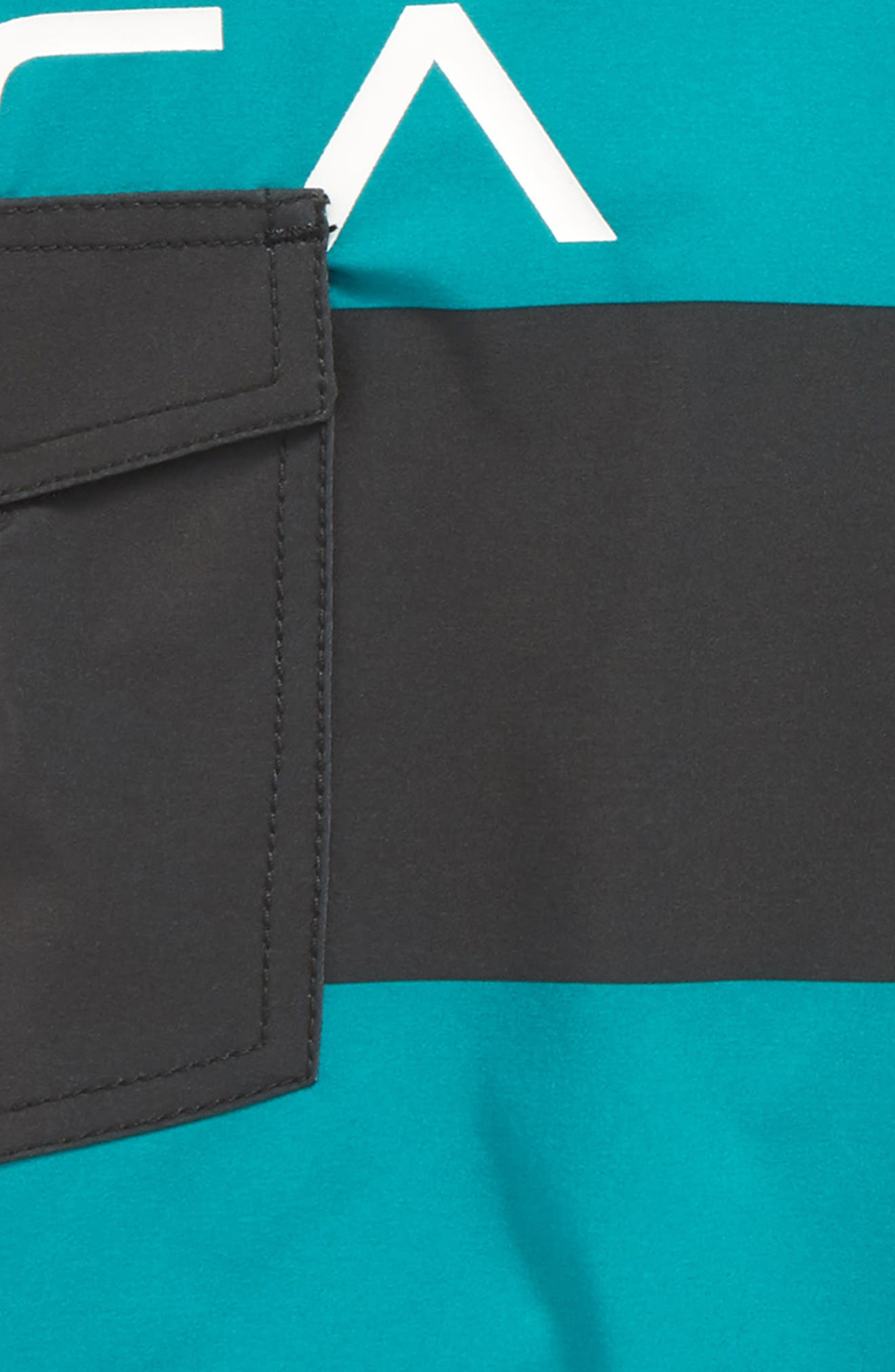 Uncivil Stripe Board Shorts,                             Alternate thumbnail 4, color,