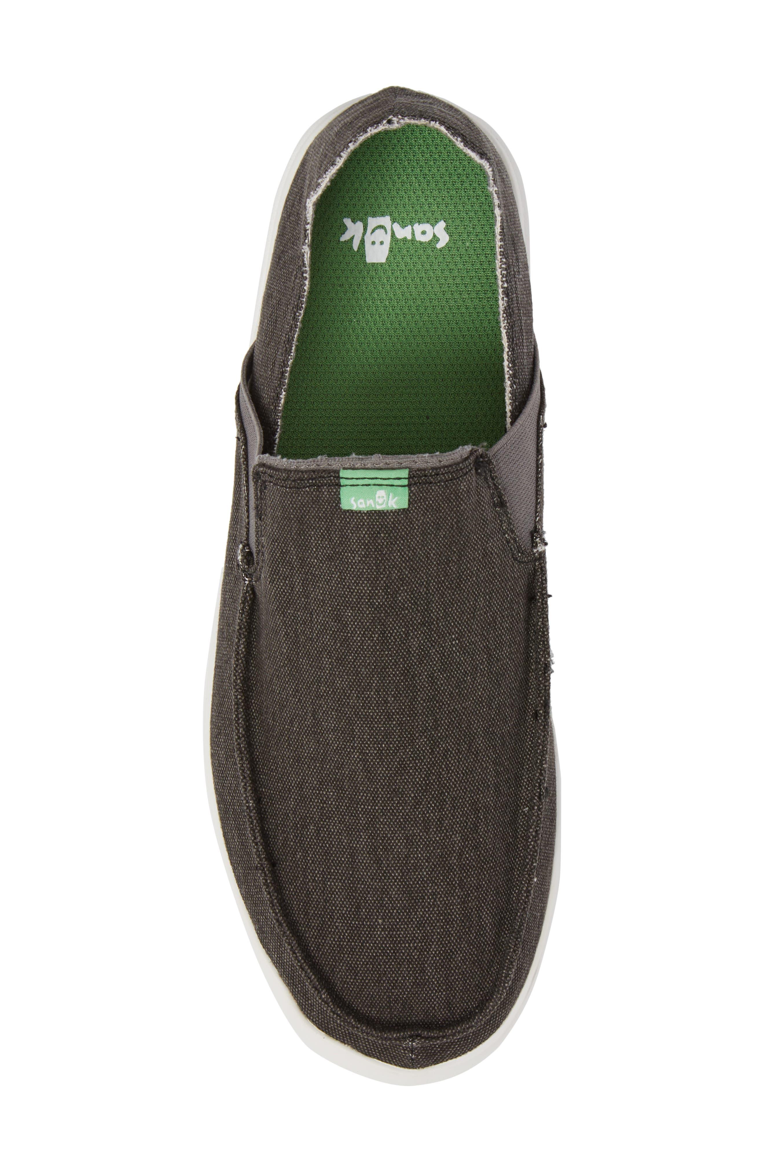 Pickpocket Slip-On Sneaker,                             Alternate thumbnail 5, color,                             BLACK