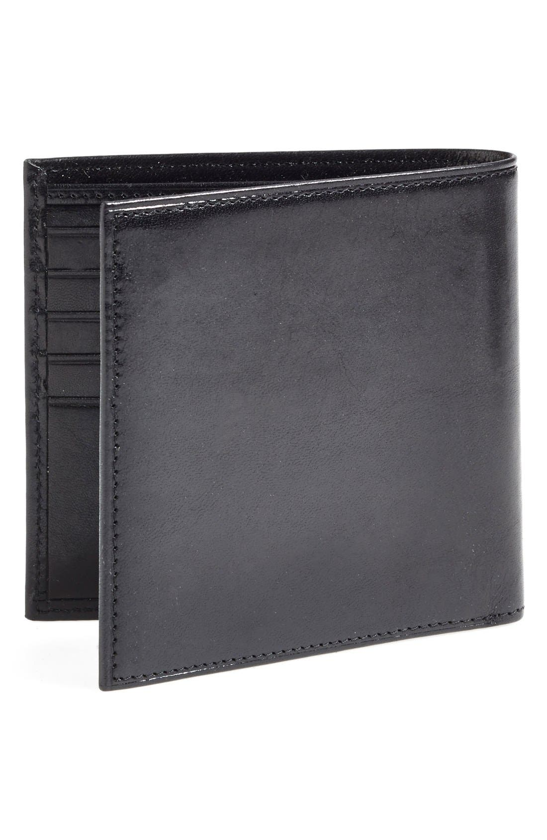 'Old Leather' Bifold Wallet,                             Alternate thumbnail 4, color,                             001