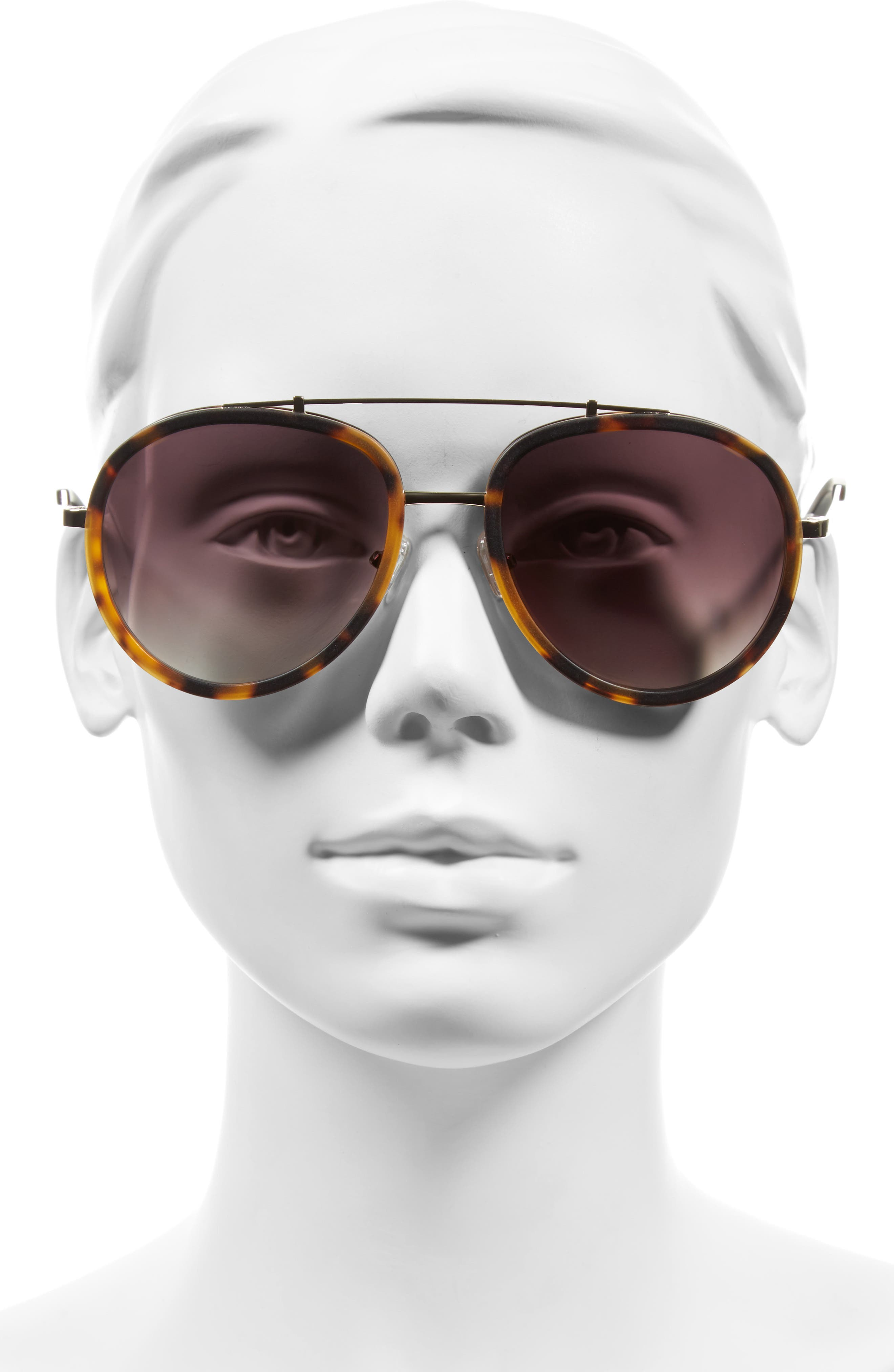 Jules 58mm Aviator Sunglasses,                             Alternate thumbnail 7, color,