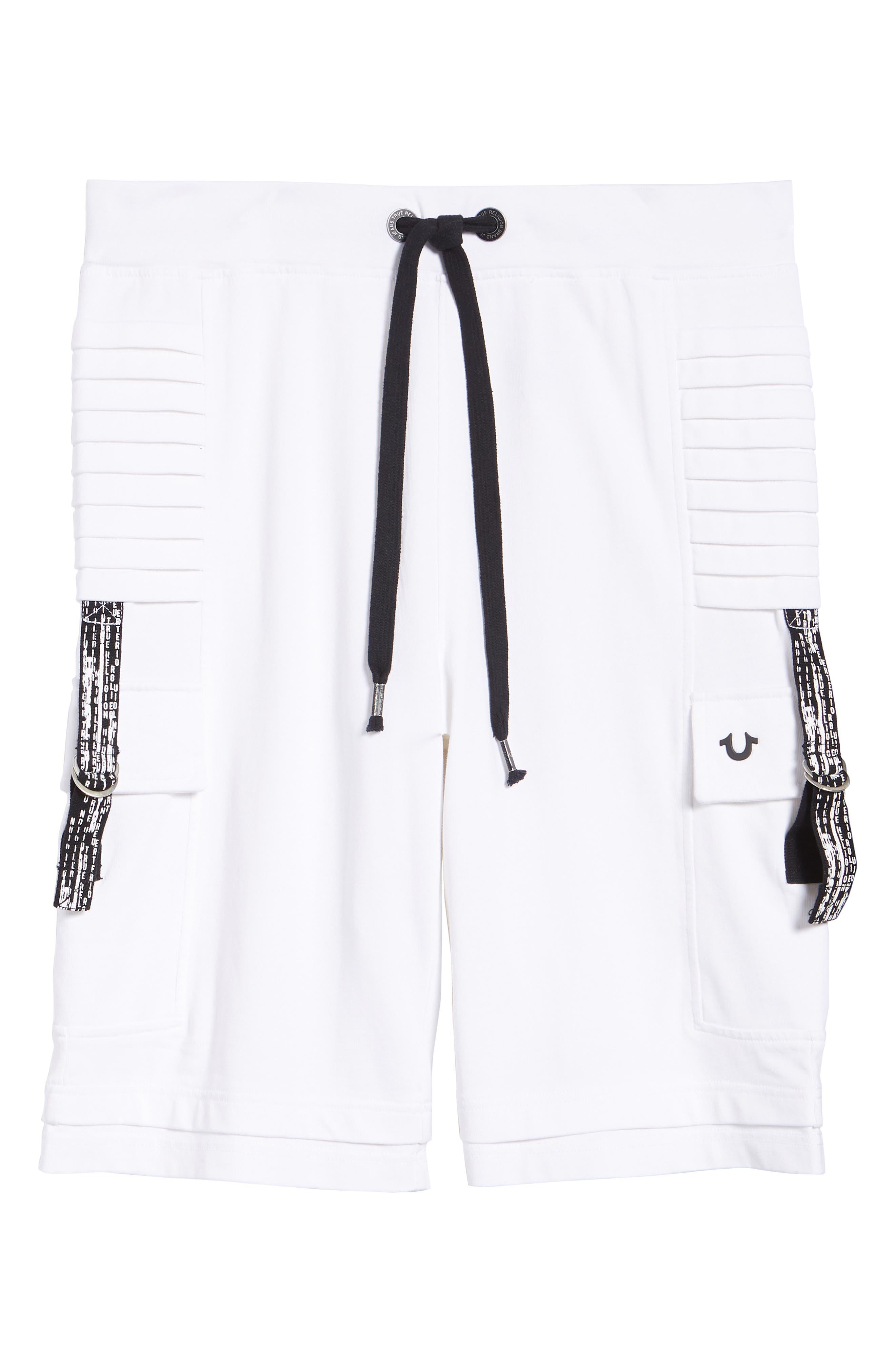 Moto Shorts,                             Alternate thumbnail 6, color,                             WHITE