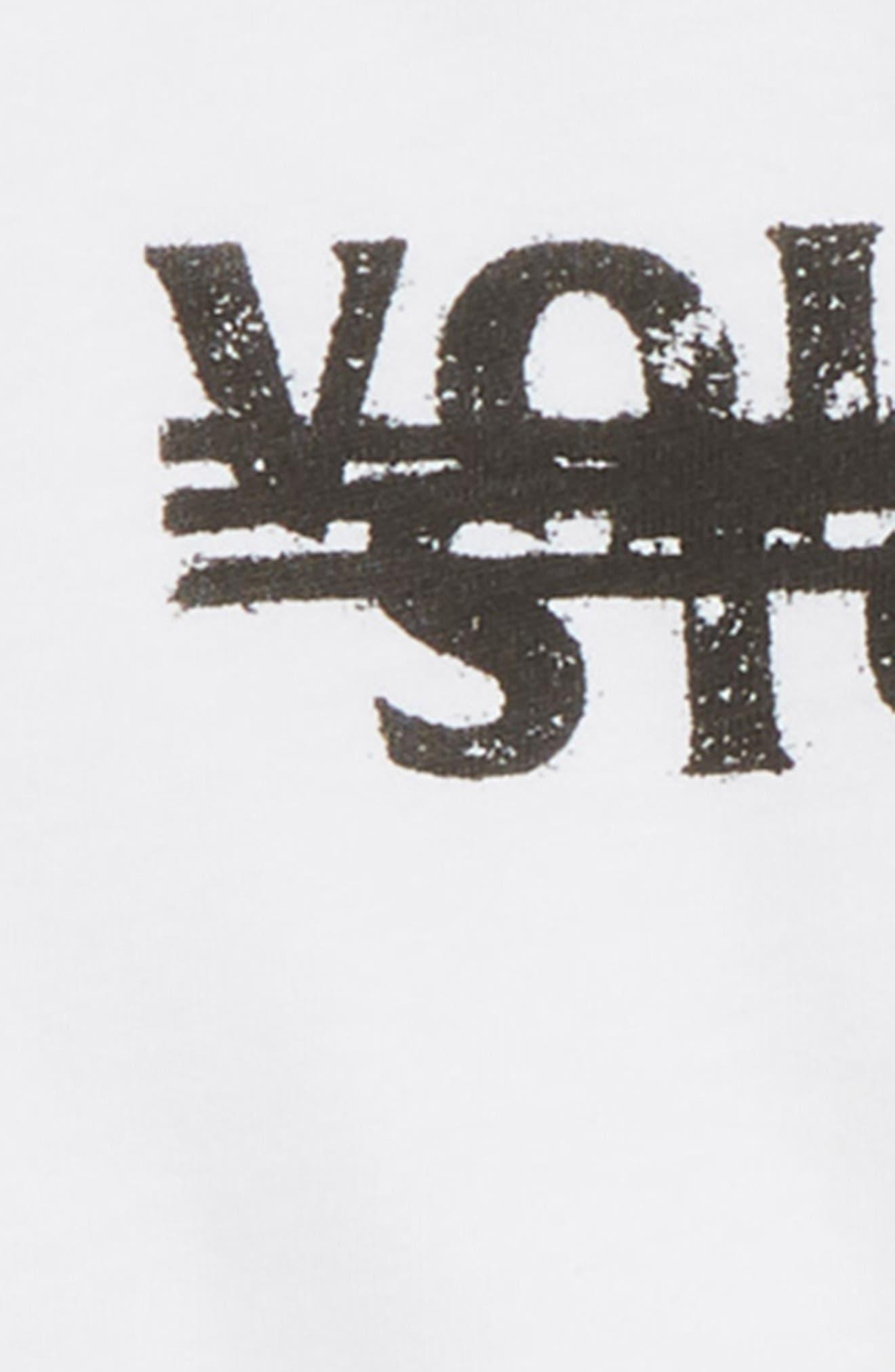 Cross Out Logo T-Shirt,                             Alternate thumbnail 2, color,                             100