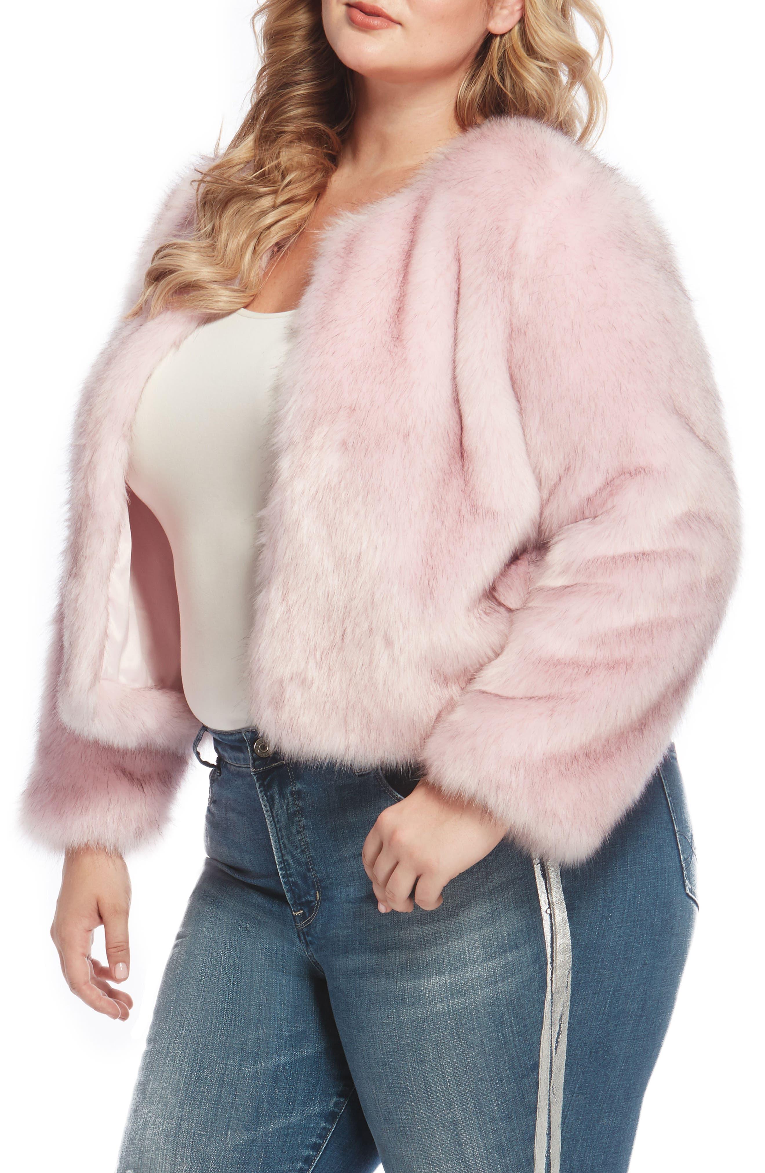 Faux Fur Jacket,                             Alternate thumbnail 9, color,