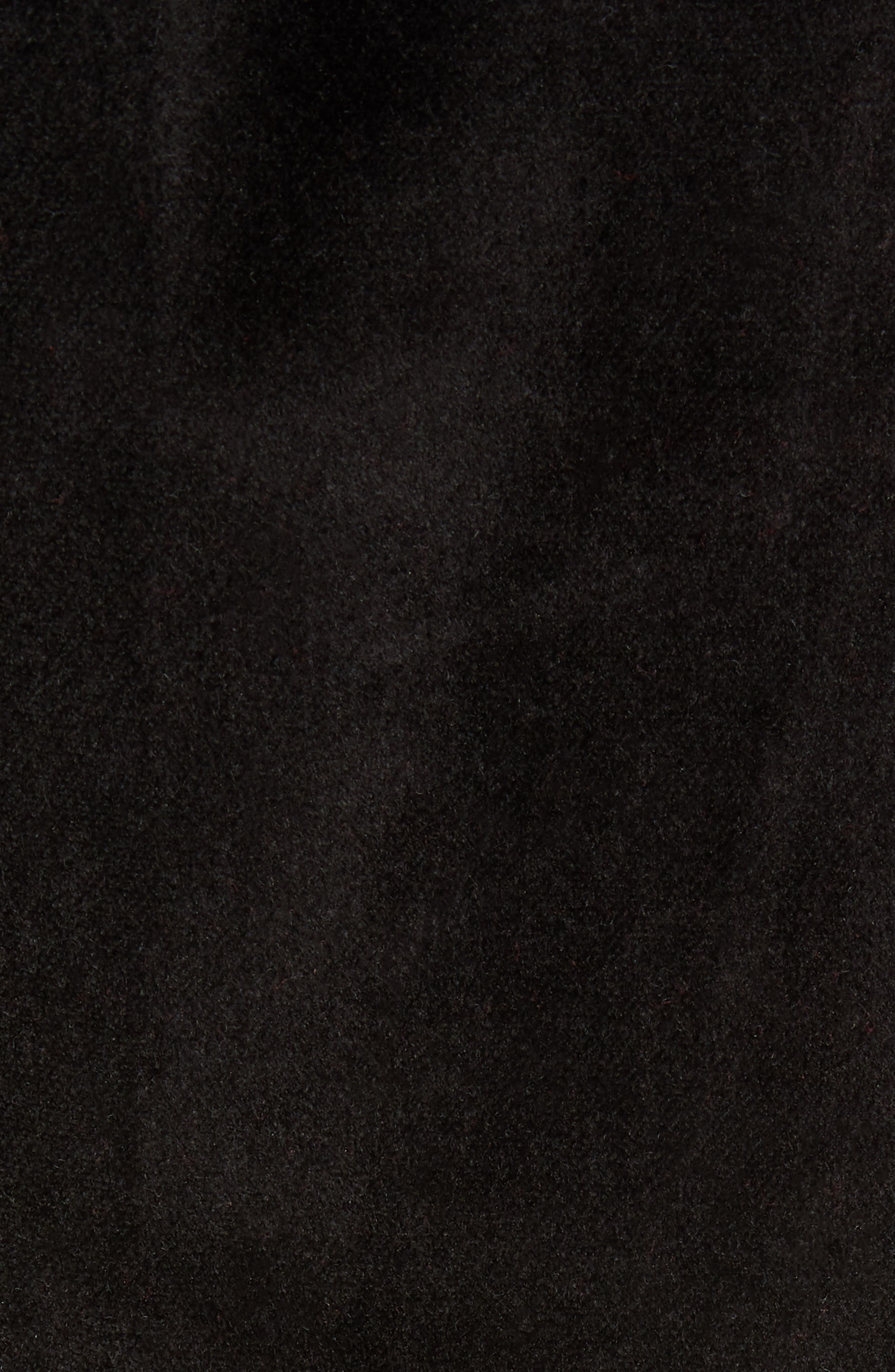 Authentic Serena Cotton Velour Track Pants,                             Alternate thumbnail 5, color,                             BLACK/ RED/ GREY