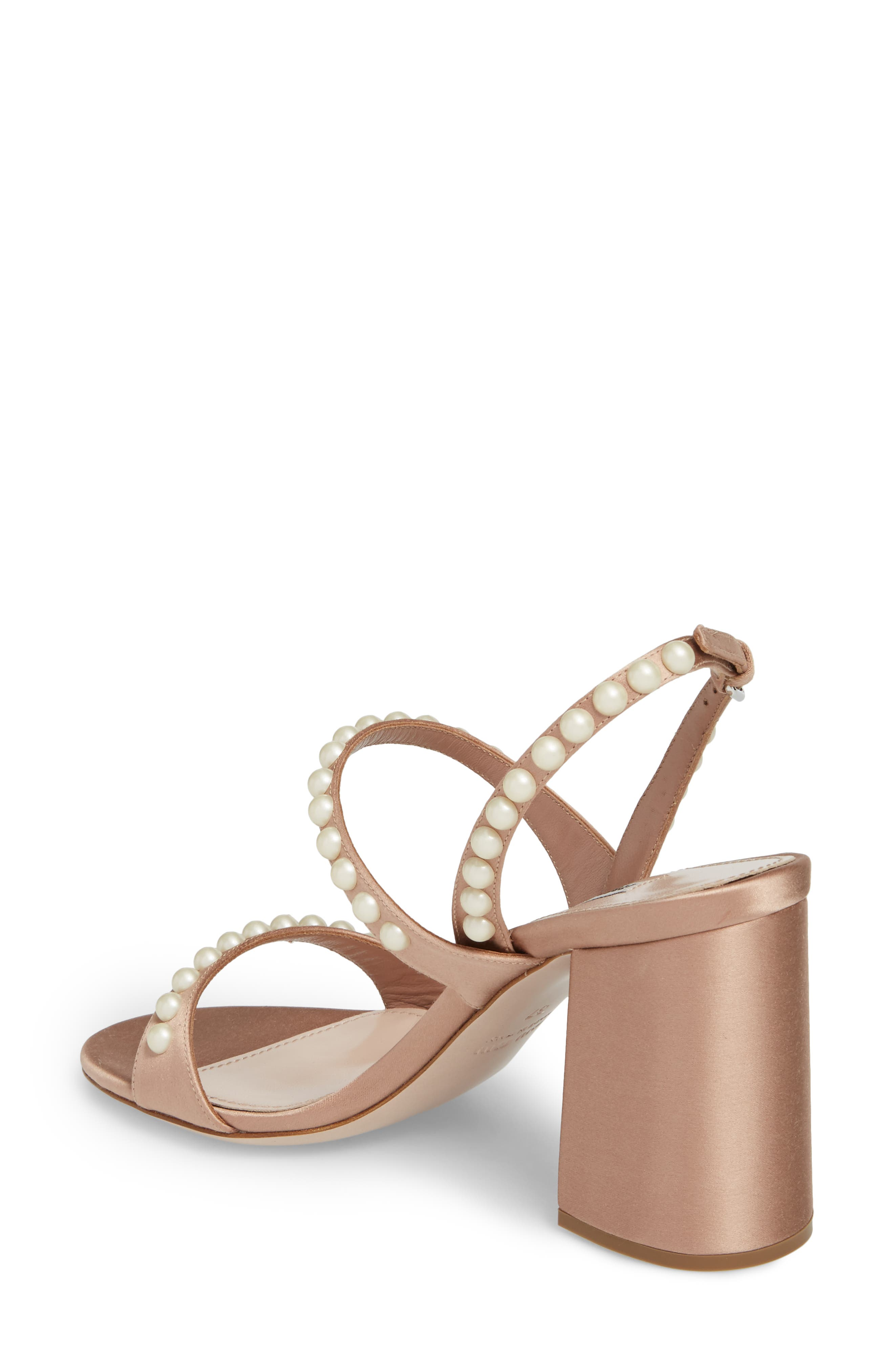 Imitation Pearl Slingback Sandal,                             Alternate thumbnail 2, color,                             250