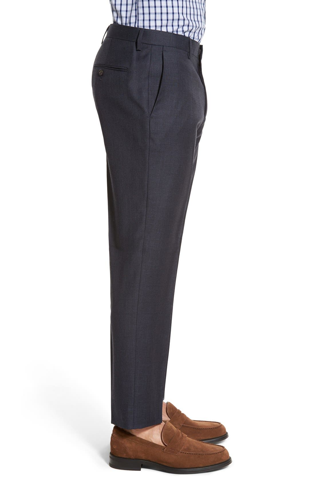 Ludlow Flat Front Solid Wool Trousers,                             Alternate thumbnail 21, color,