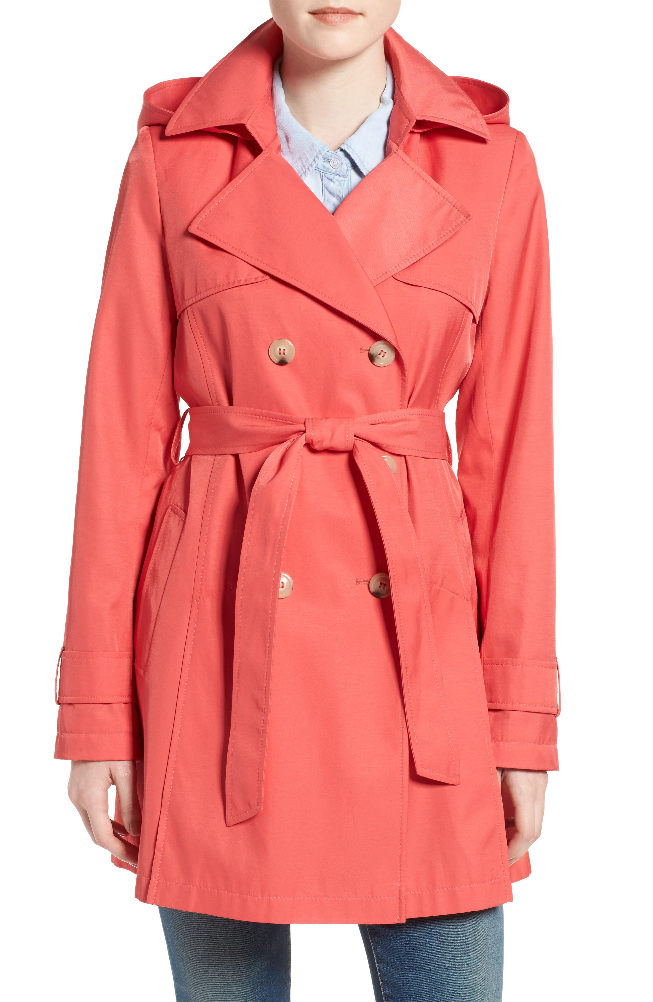 Detachable Hood Trench Coat,                             Main thumbnail 9, color,
