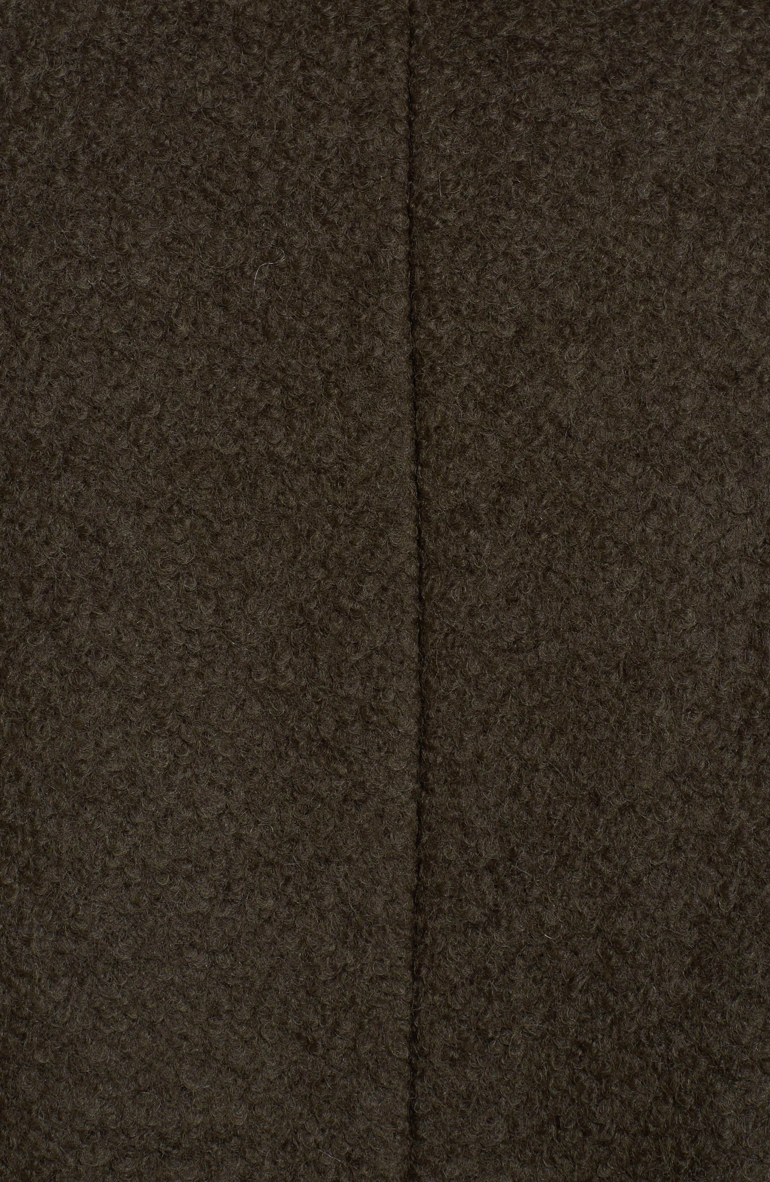 Contrast Collar Bouclé Coat,                             Alternate thumbnail 14, color,