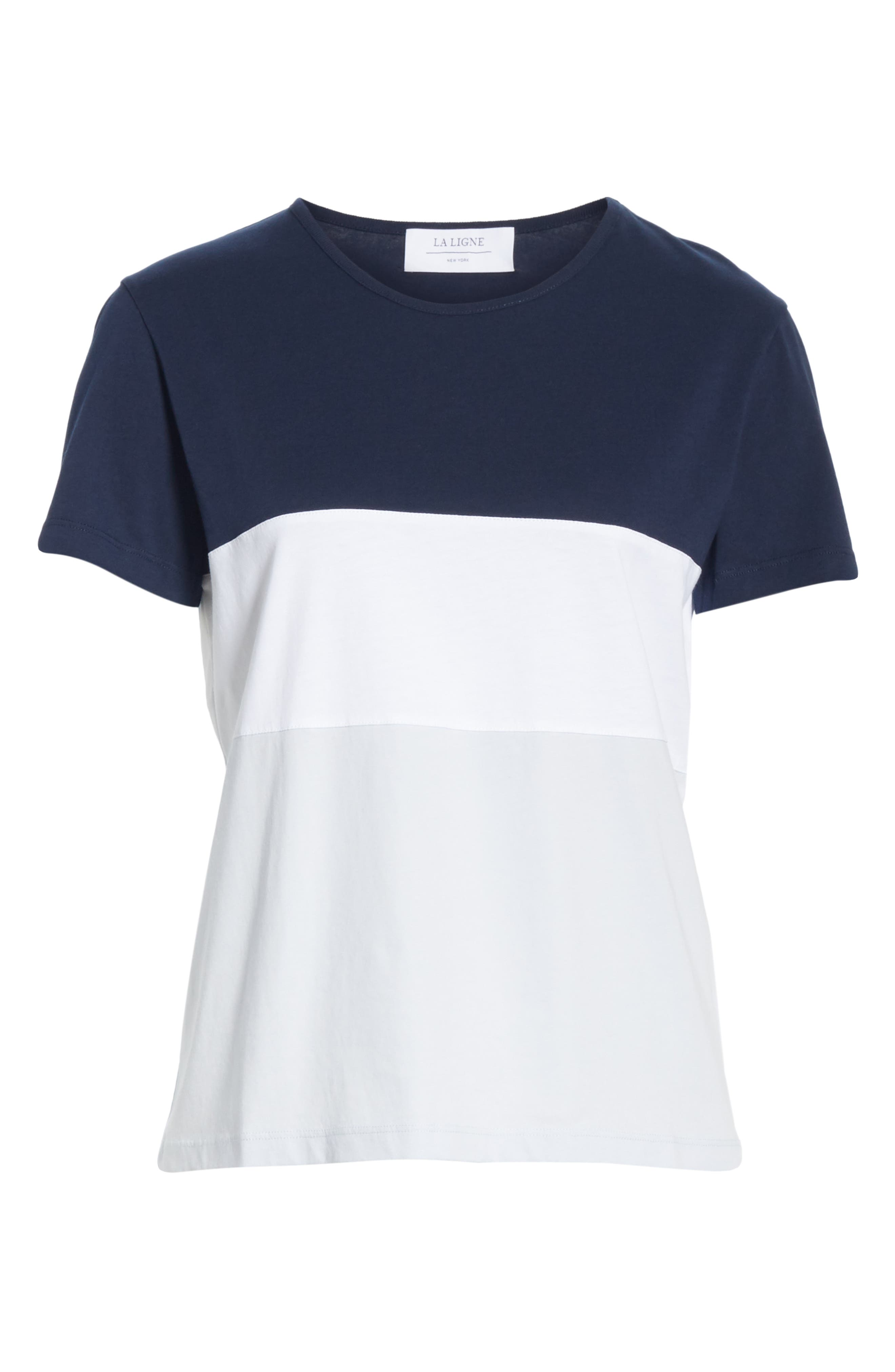 Colorblock Tee,                             Alternate thumbnail 6, color,                             NAVY WHITE BLUE COLOR BLOCK