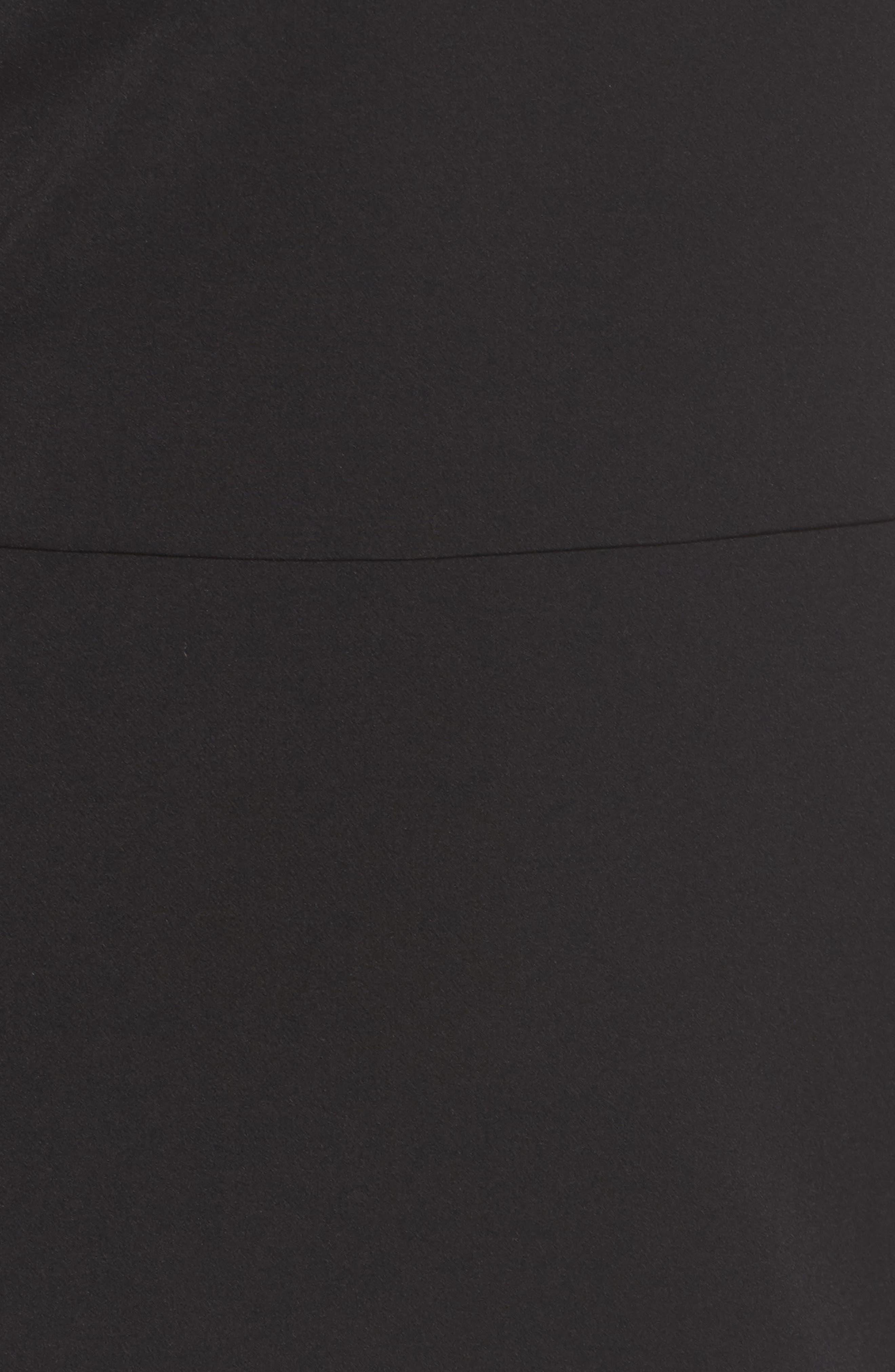Emmie Ruffle Sleeve Sheath Dress,                             Alternate thumbnail 5, color,                             001