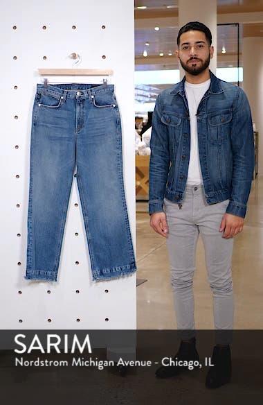 Justine High Waist Crop Wide Leg Jeans, sales video thumbnail
