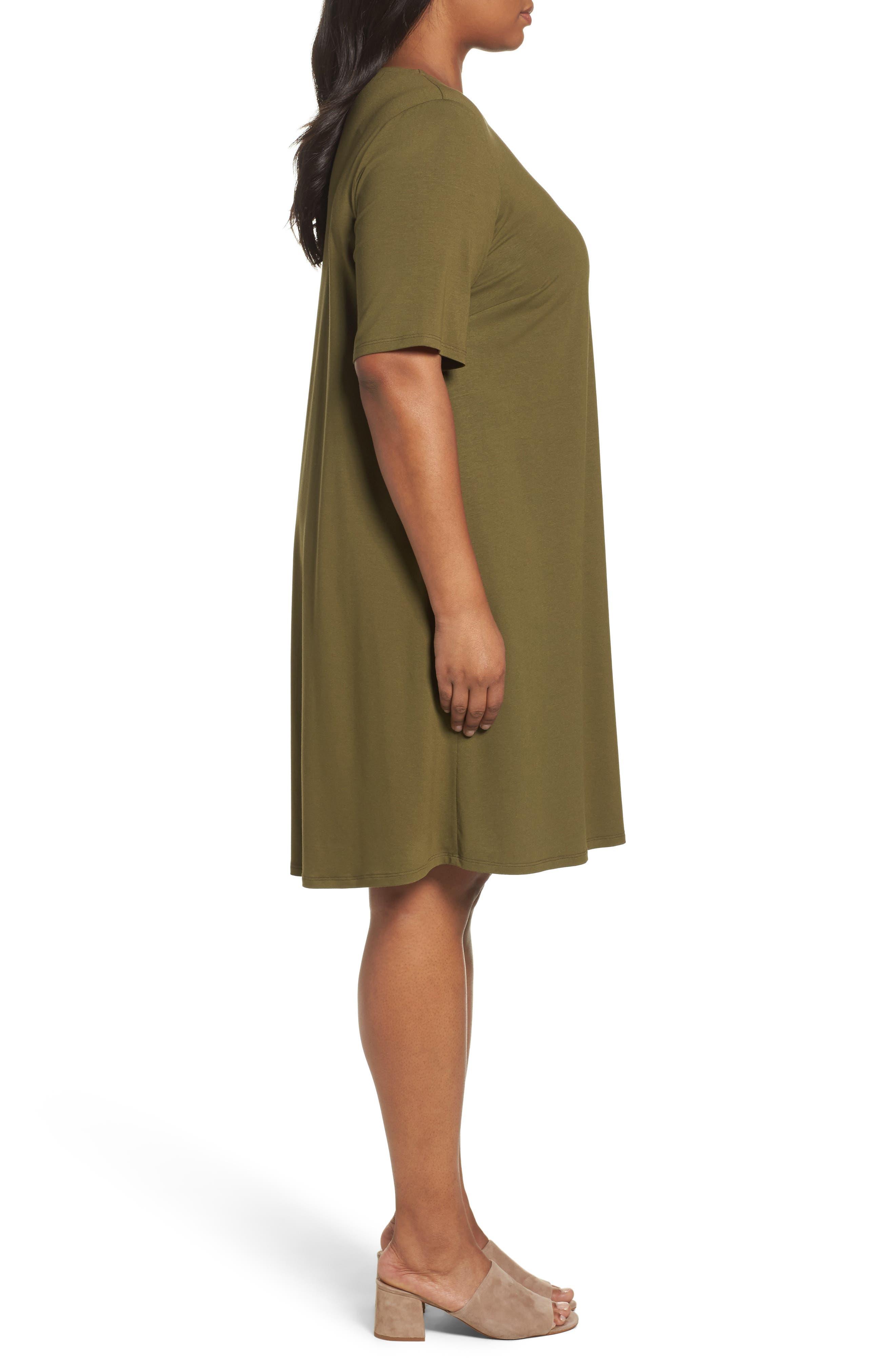 Stretch Jersey Shift Dress,                             Alternate thumbnail 9, color,