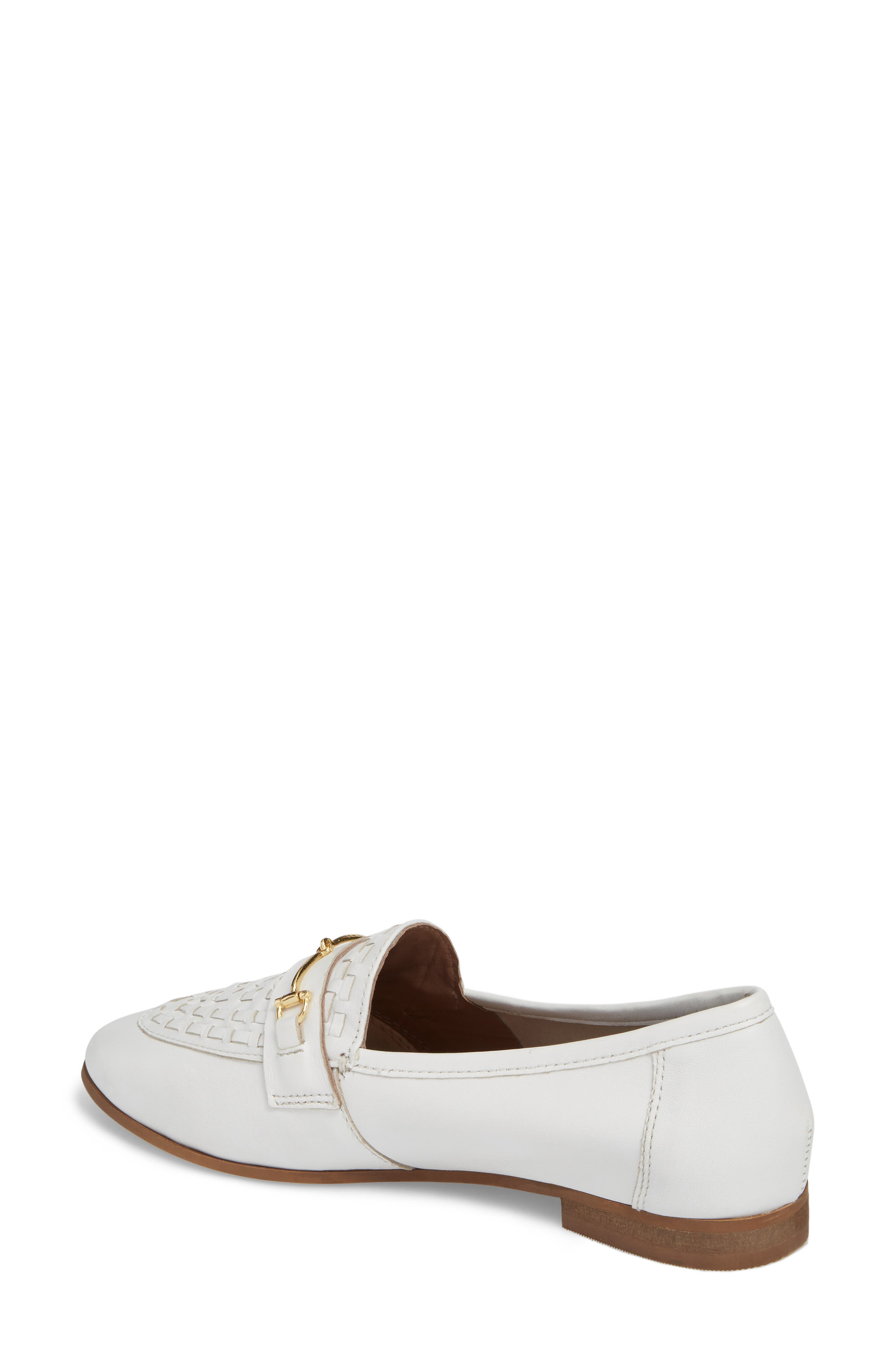 Kingley Woven Loafer,                             Alternate thumbnail 2, color,                             WHITE