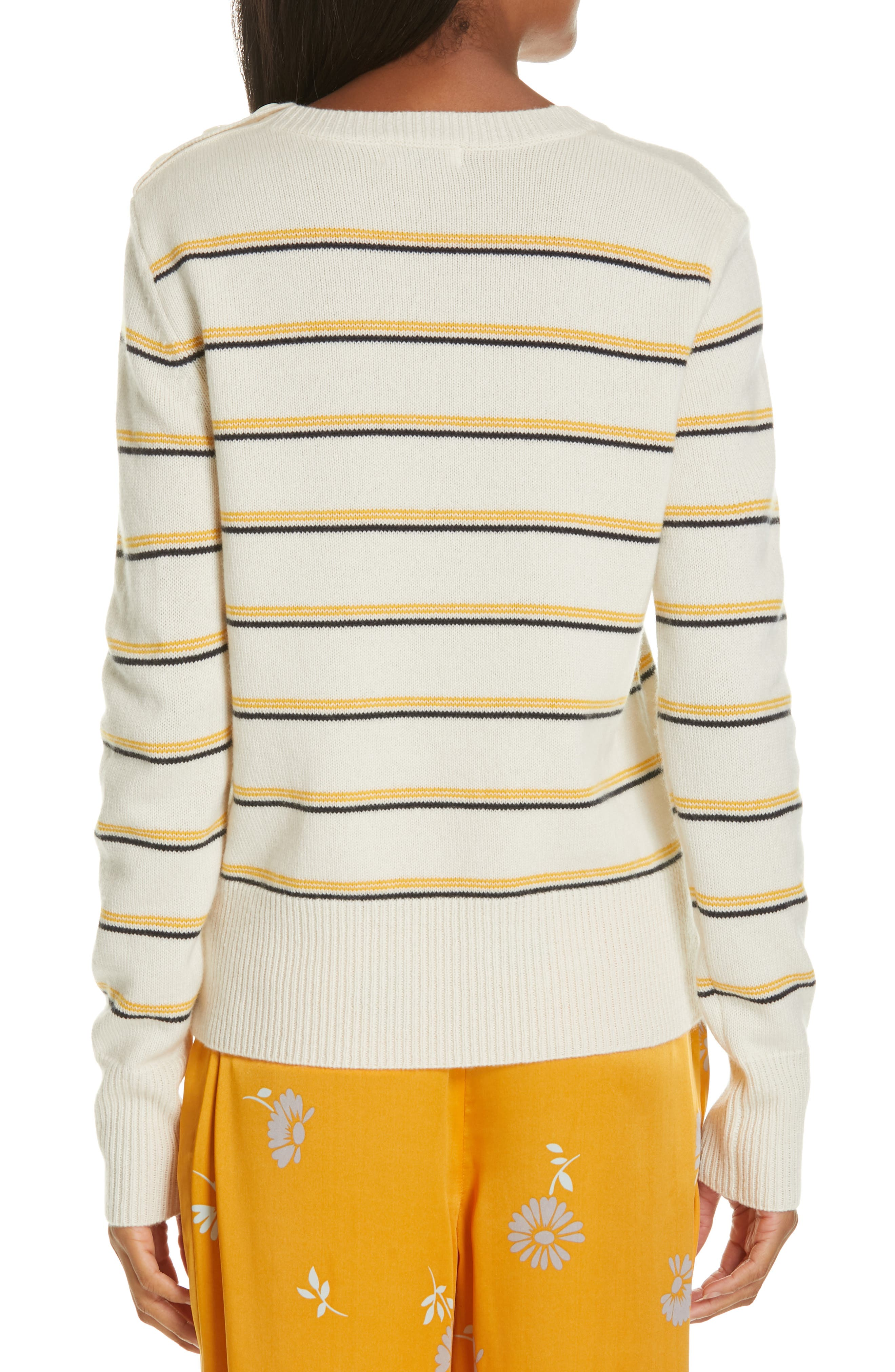 Duru Wool & Cashmere Sweater,                             Alternate thumbnail 2, color,                             NATURE WHITE MULTI