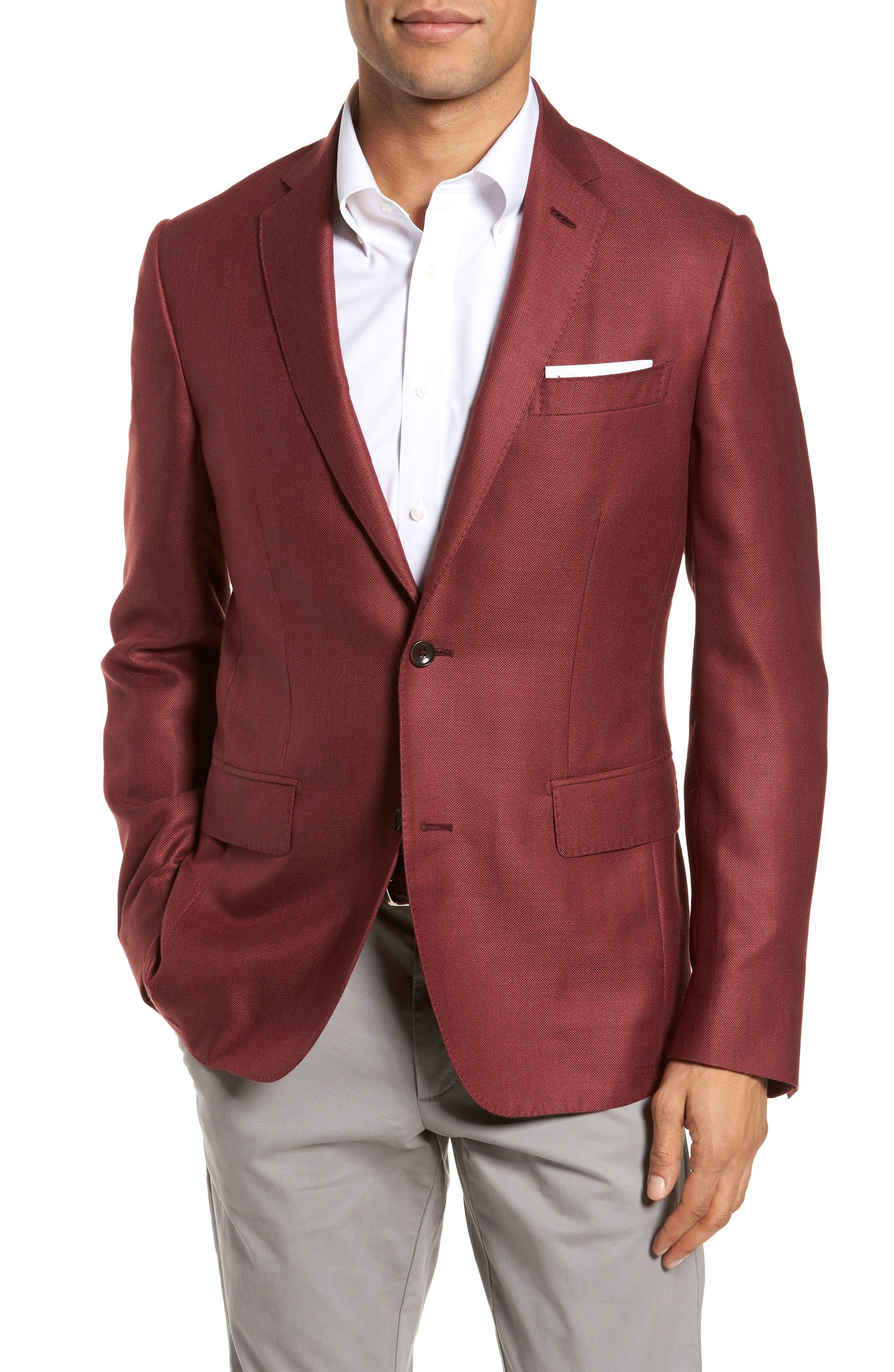 Trim Fit Cashmere & Silk Blazer,                             Main thumbnail 4, color,
