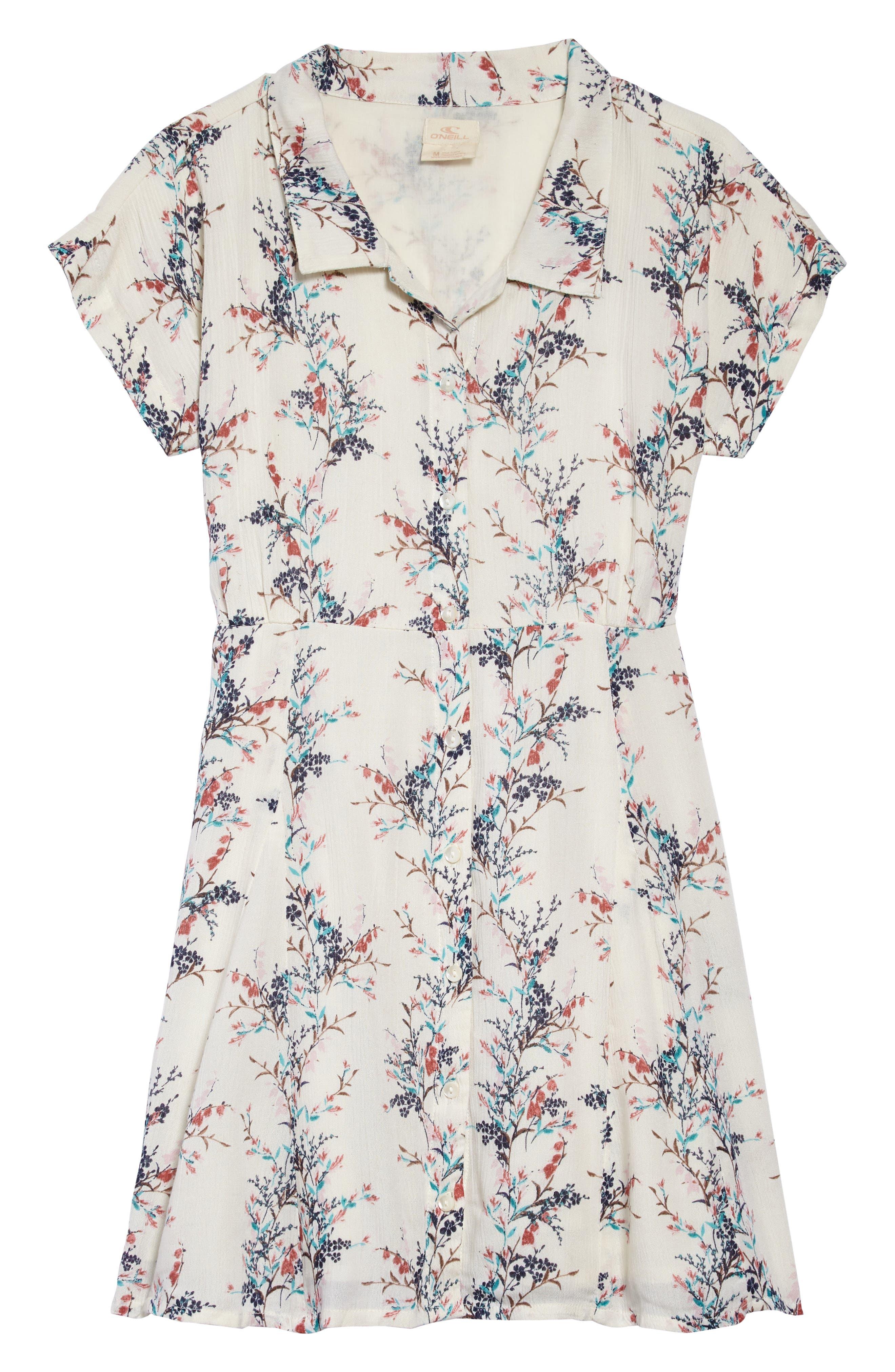 Annalyn Floral Dress,                             Main thumbnail 1, color,                             NAKED