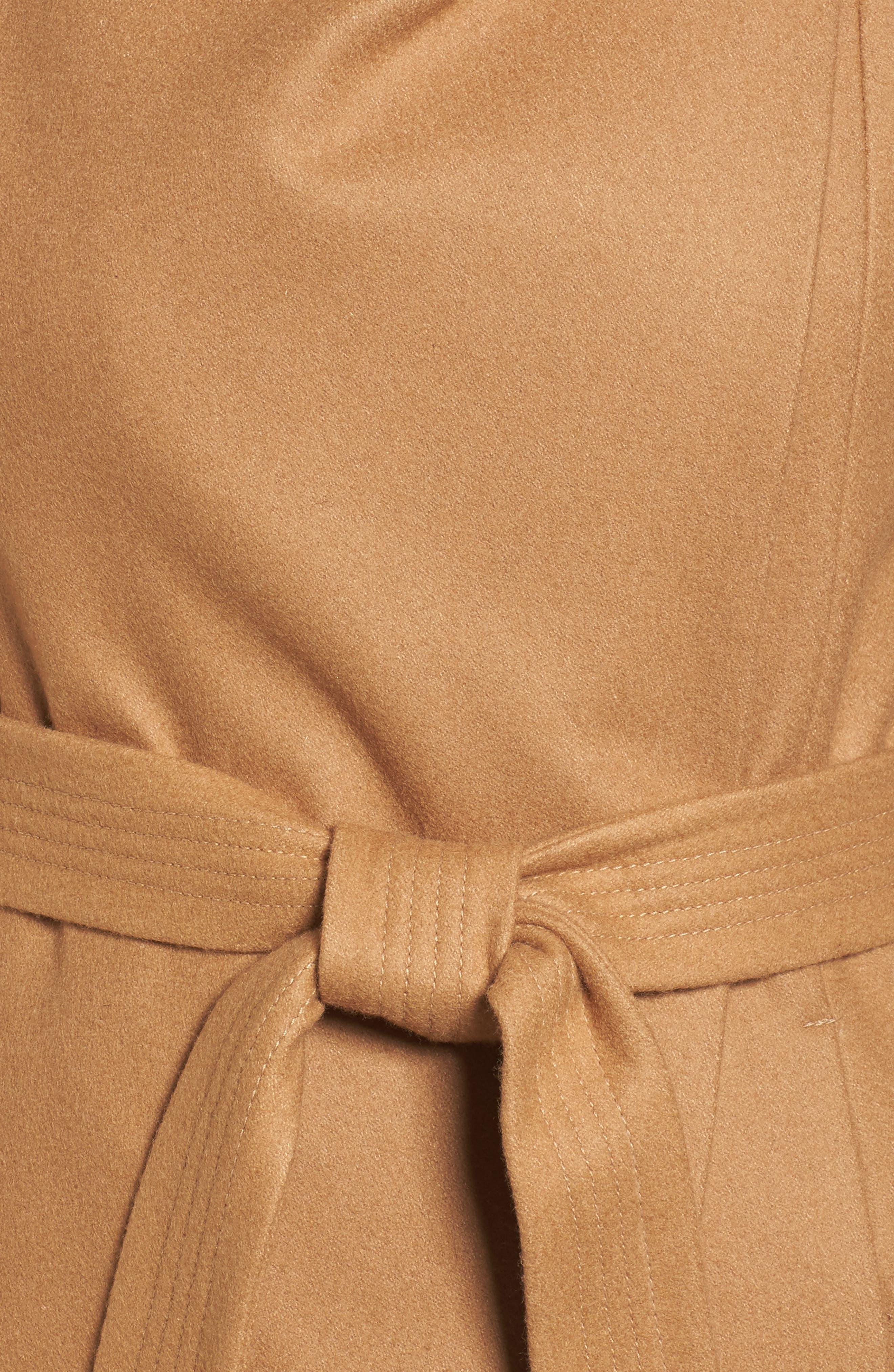 Wool Blend Maxi Wrap Coat,                             Alternate thumbnail 6, color,                             205