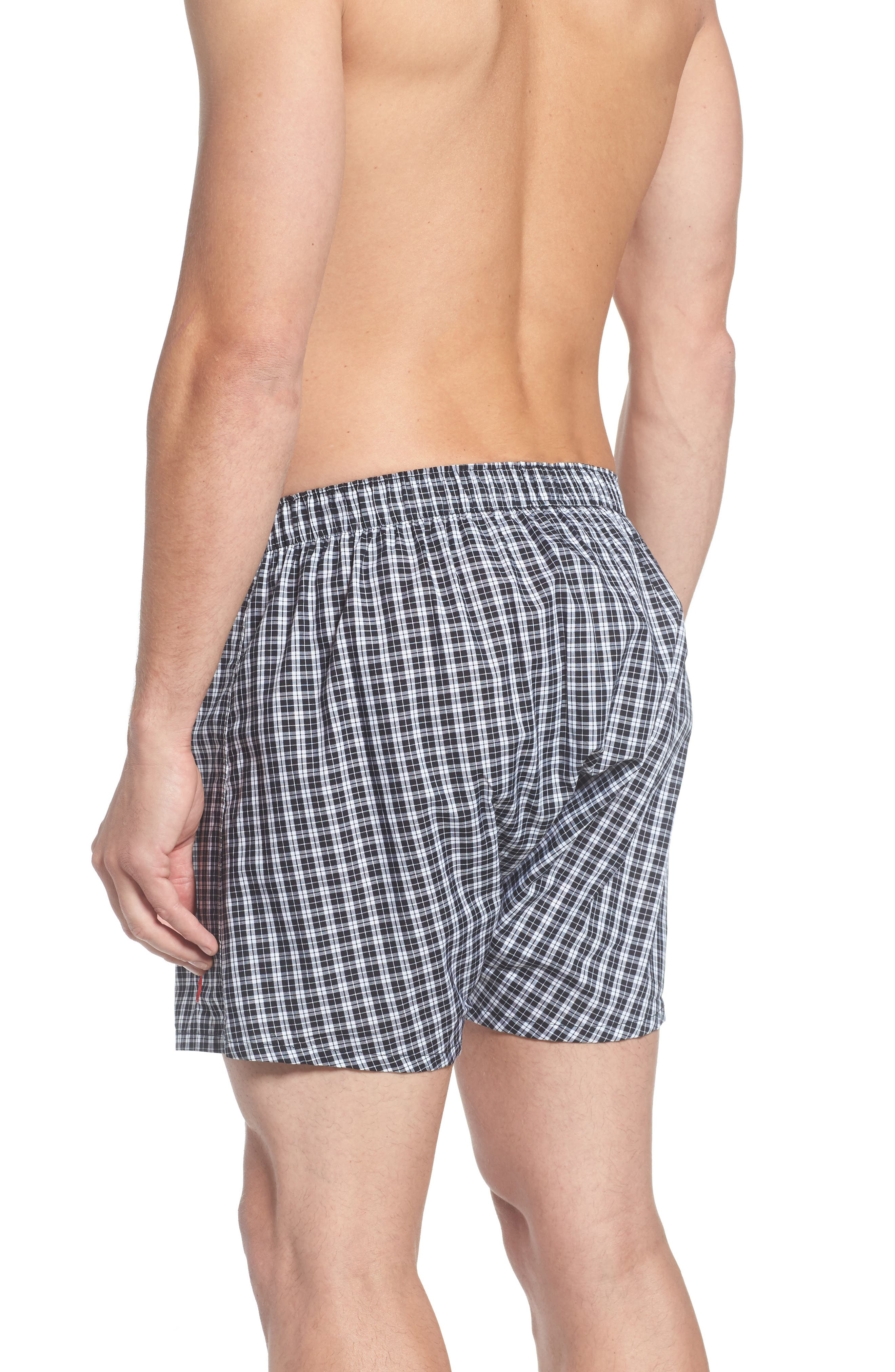 Assorted 3-Pack Woven Cotton Boxers,                             Alternate thumbnail 3, color,                             003