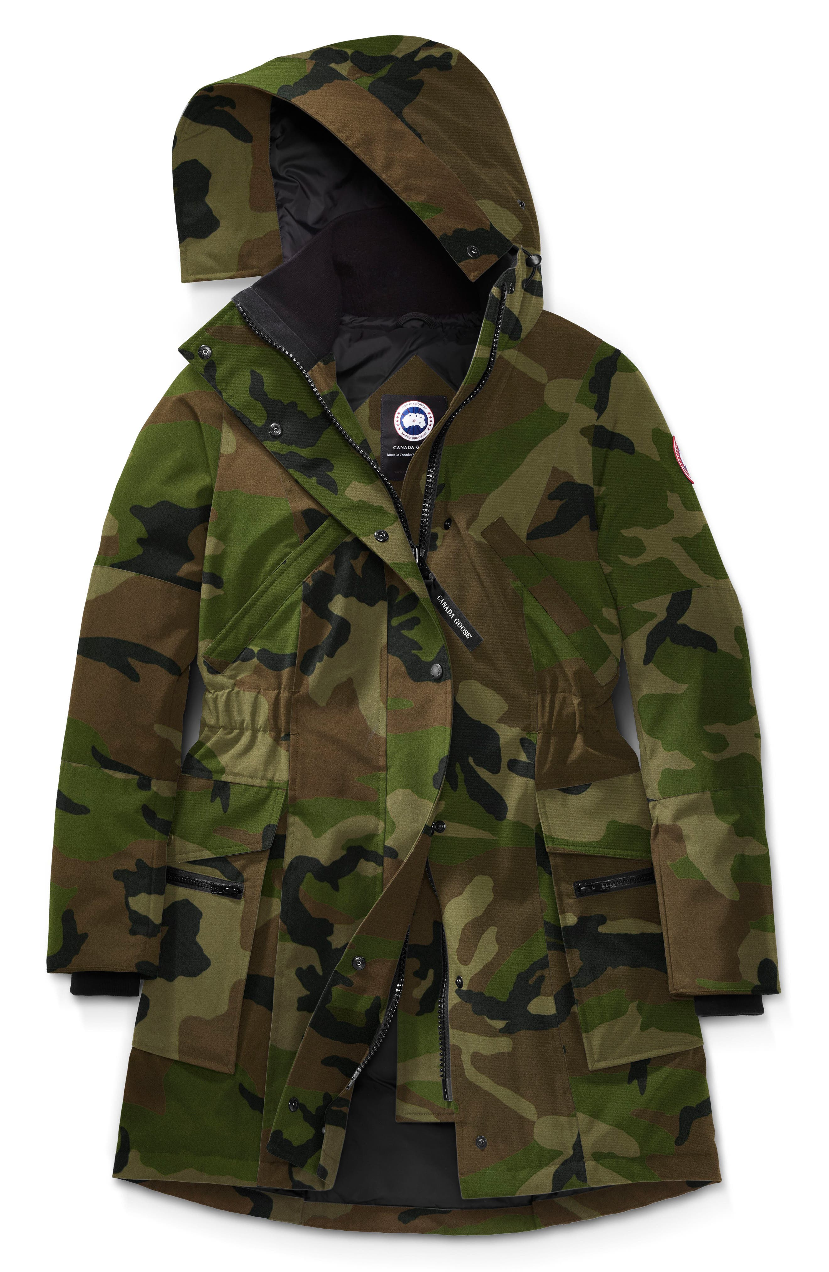 Kinley Insulated Parka,                             Alternate thumbnail 4, color,                             CLASSIC CAMO