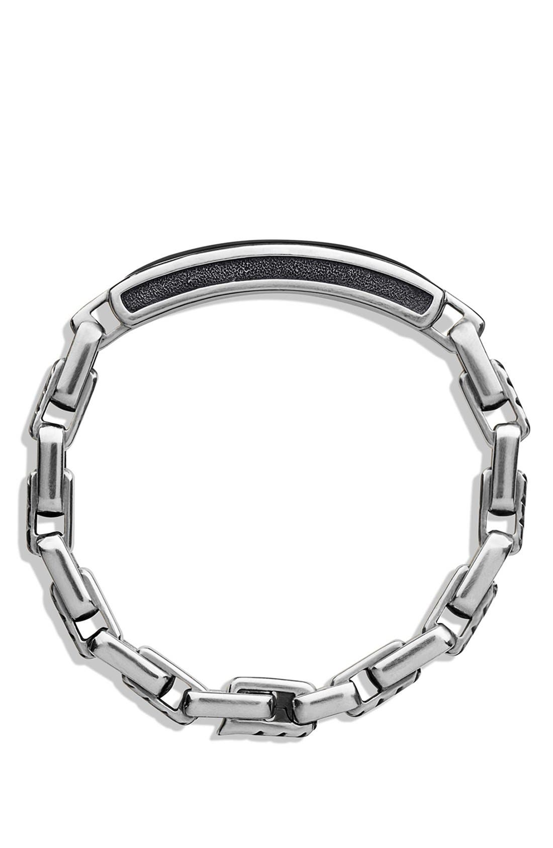 ' Modern Cable' ID Bracelet,                             Alternate thumbnail 2, color,                             001