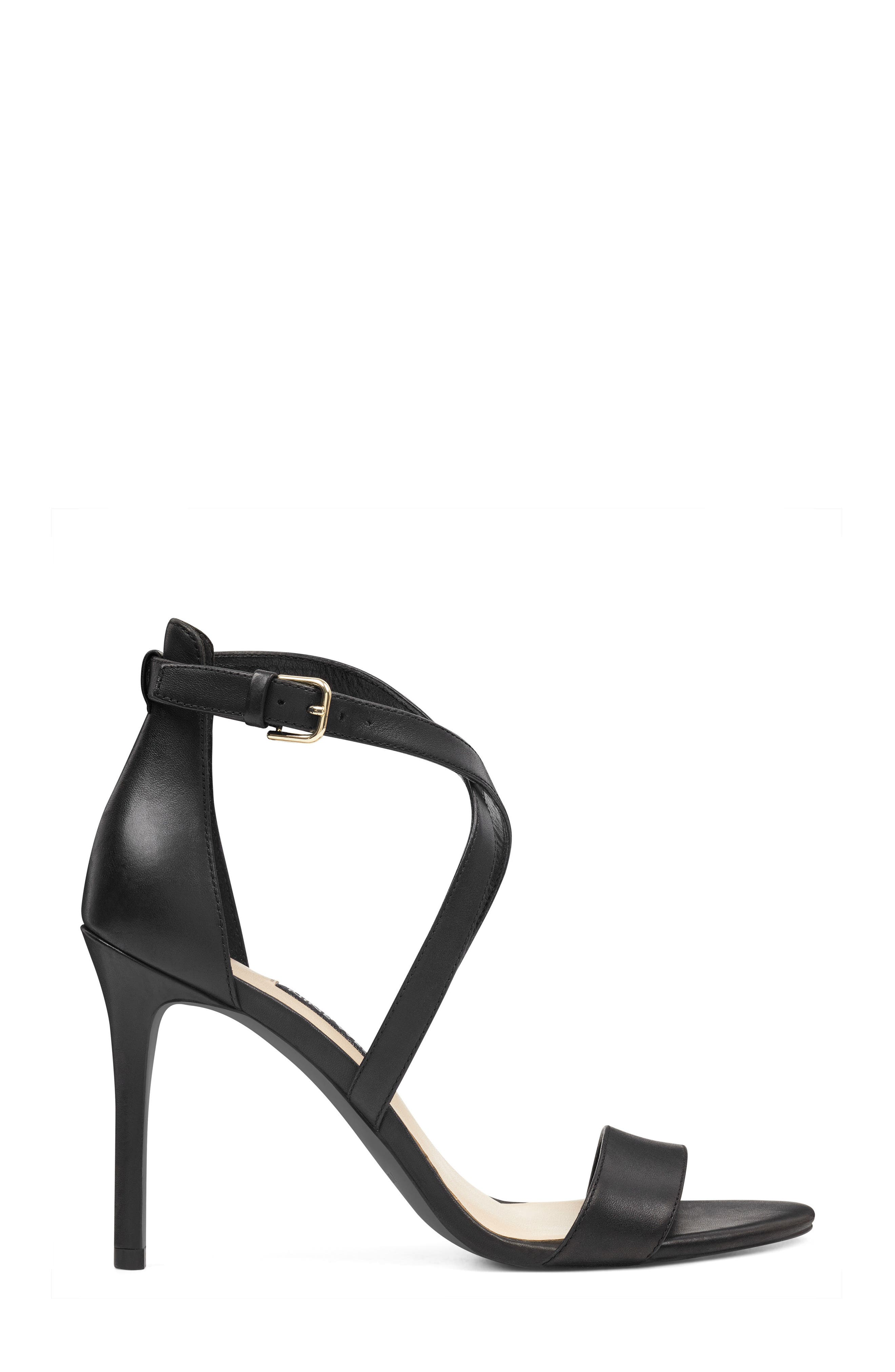 Mydebut Strappy Sandal,                             Alternate thumbnail 3, color,                             BLACK LEATHER