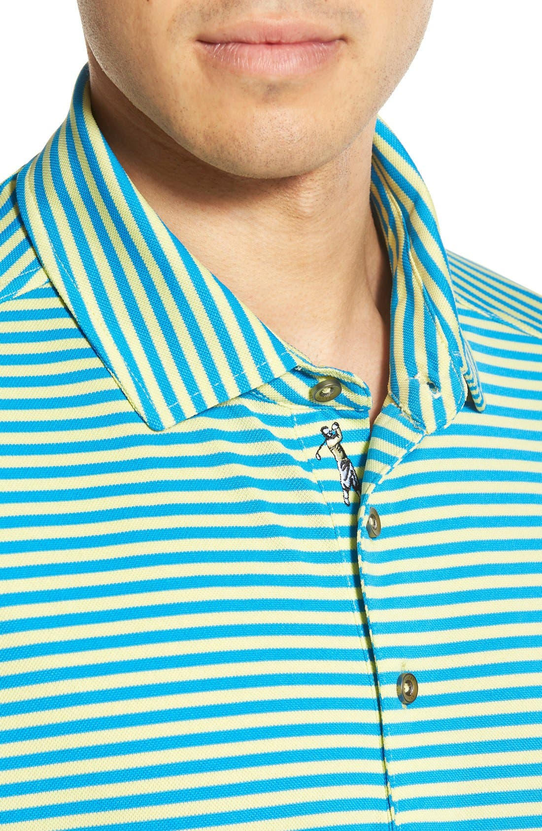 XH2O Feed Stripe Stretch Golf Polo,                             Alternate thumbnail 69, color,