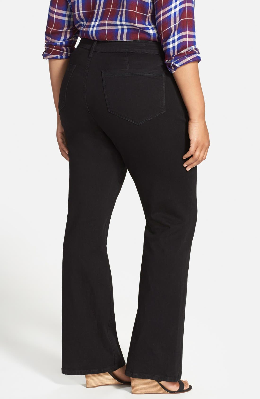 'Isabella' Stretch Trouser Jeans,                             Alternate thumbnail 3, color,                             001
