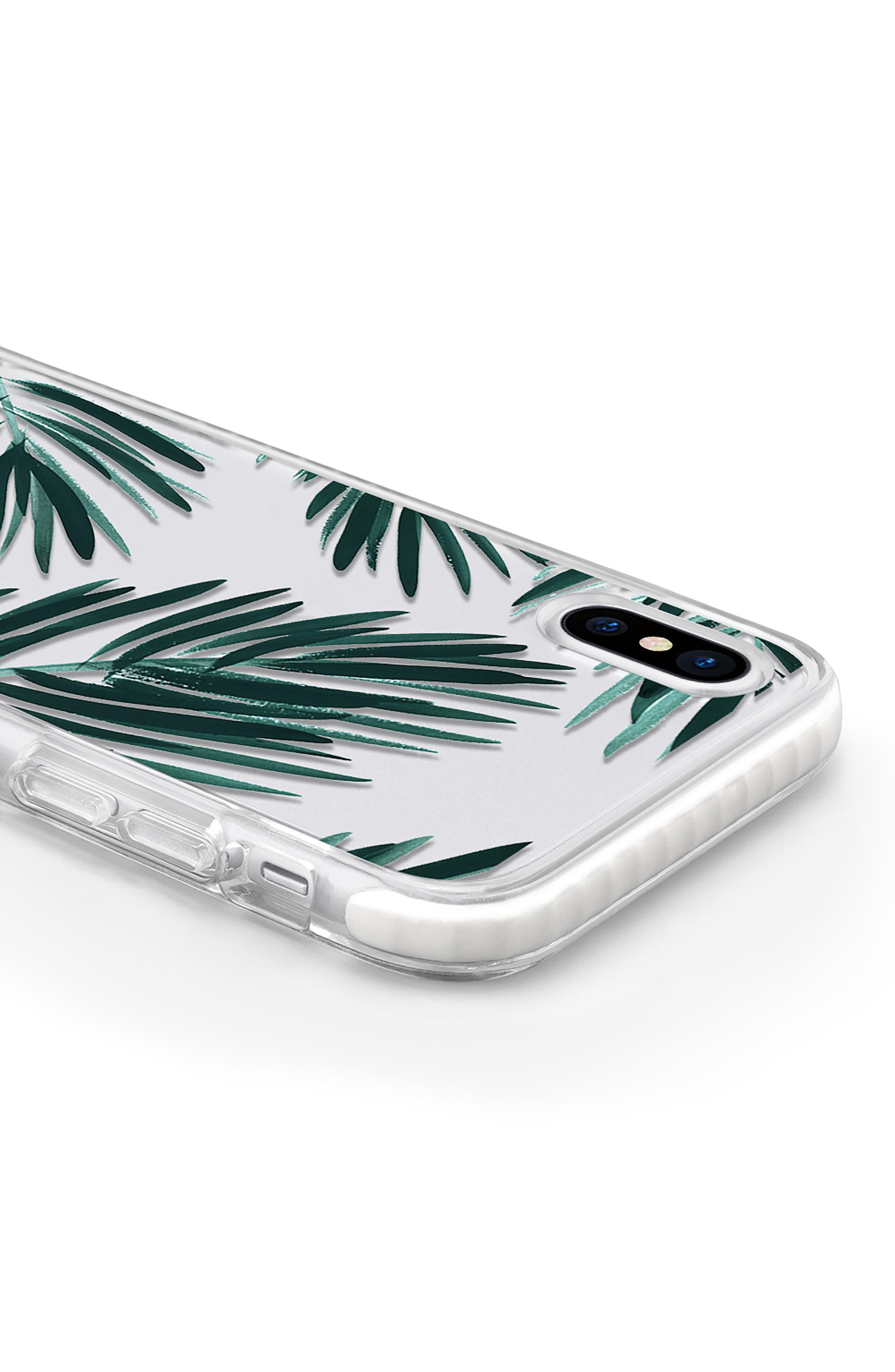 Palm Fronds iPhone X & Xs Case,                             Alternate thumbnail 4, color,                             GREEN