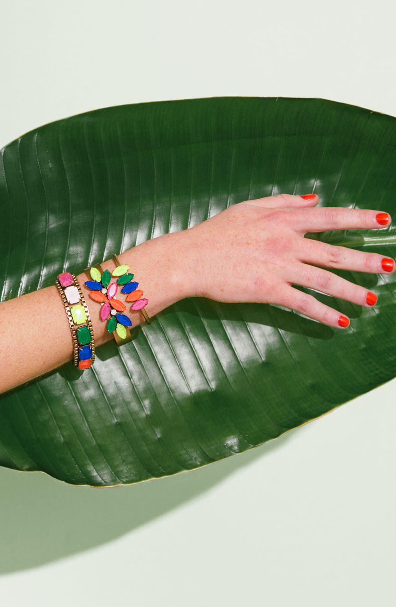 Scarlet Mixed Jewel Bracelet,                             Alternate thumbnail 3, color,                             650