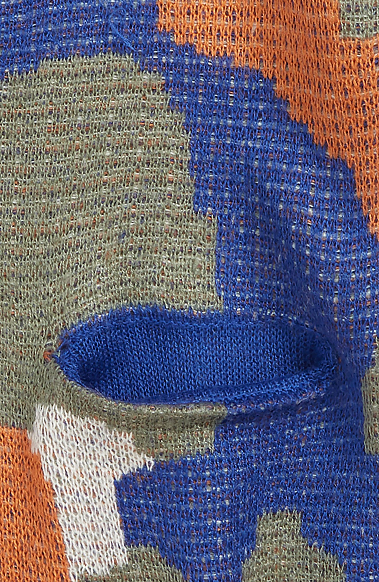 Abstract Cardigan,                             Alternate thumbnail 2, color,                             BLUE MAZARINE CAMO