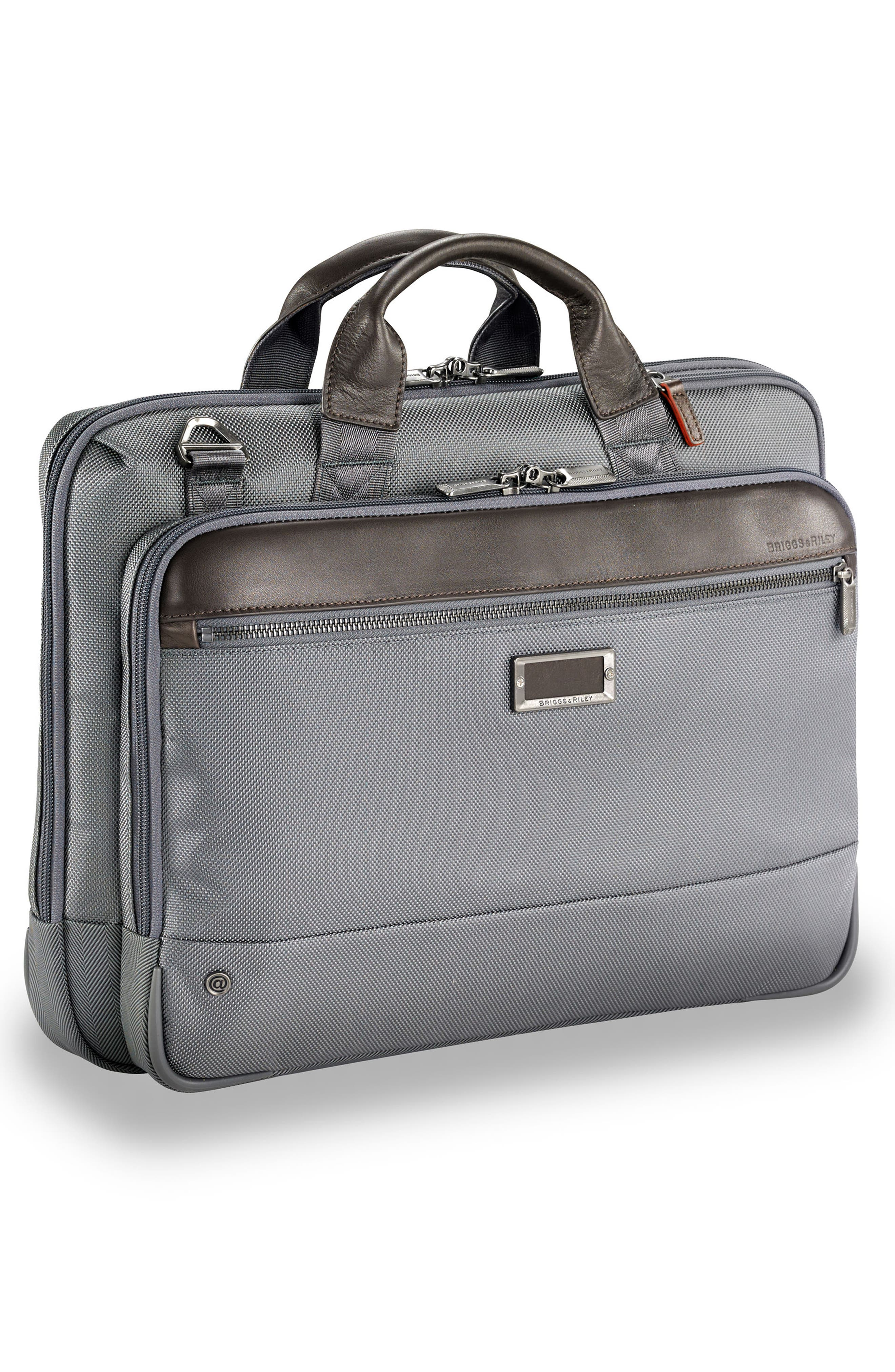 @work Slim Briefcase,                             Alternate thumbnail 3, color,                             GREY