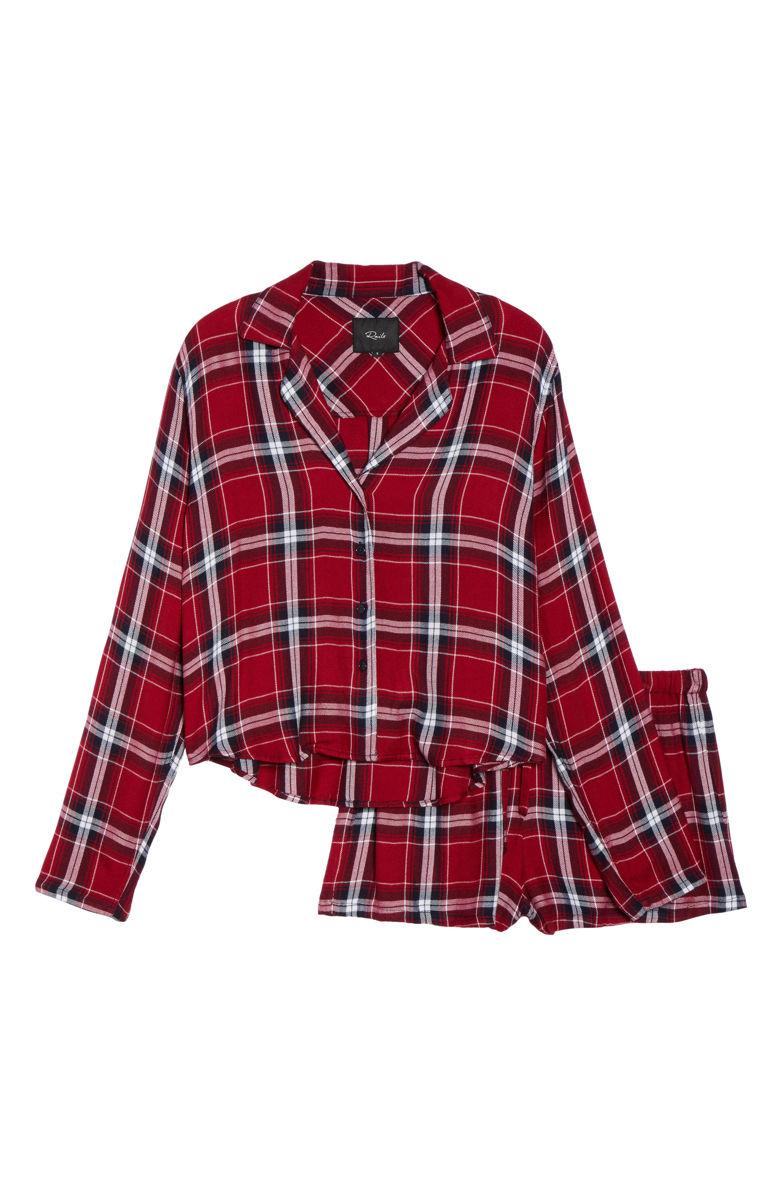 Plaid Short Pajamas,                             Alternate thumbnail 6, color,                             627
