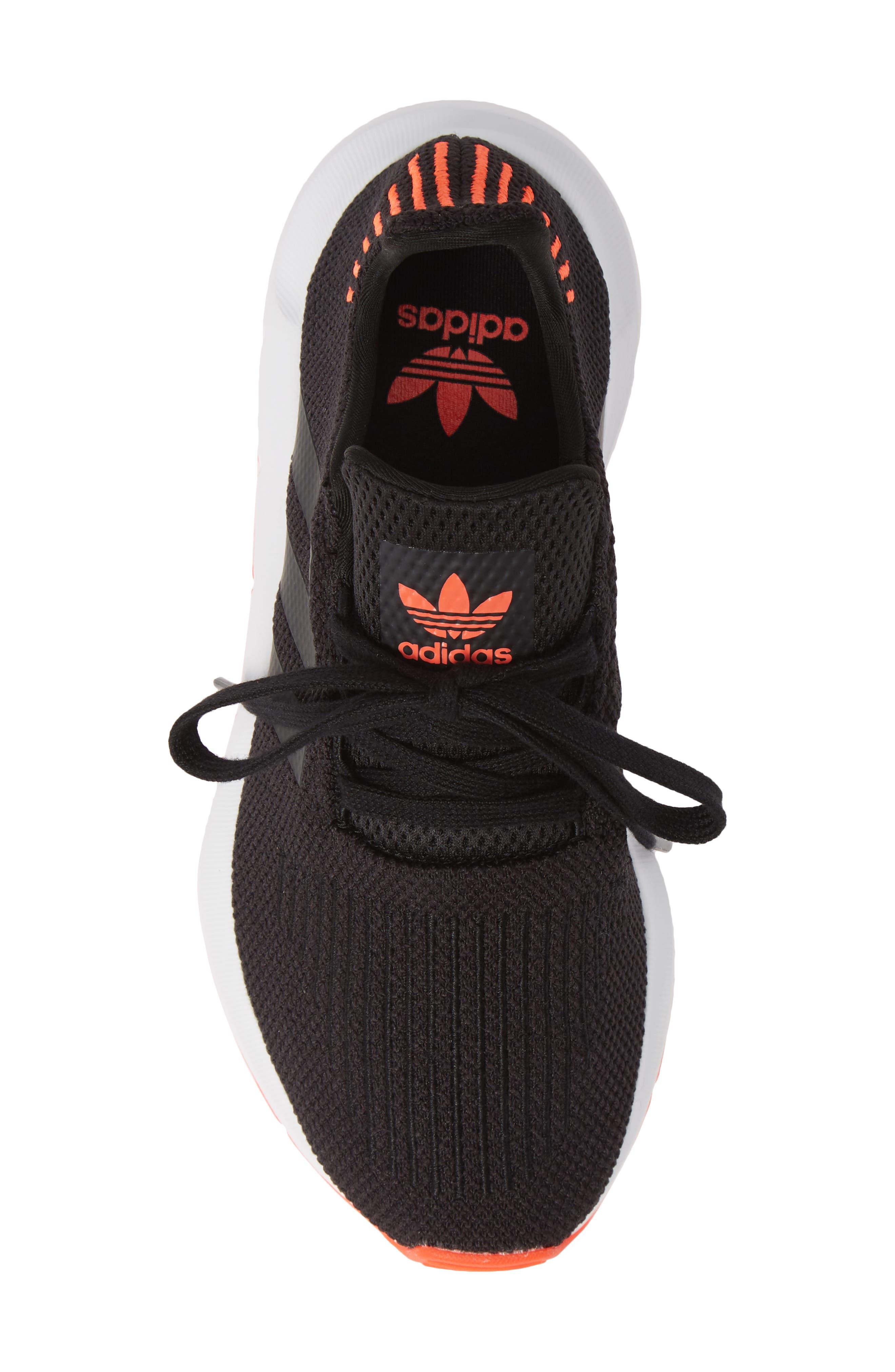 Swift Run J Sneaker,                             Alternate thumbnail 5, color,                             BLACK/ BLACK/ SOLAR RED